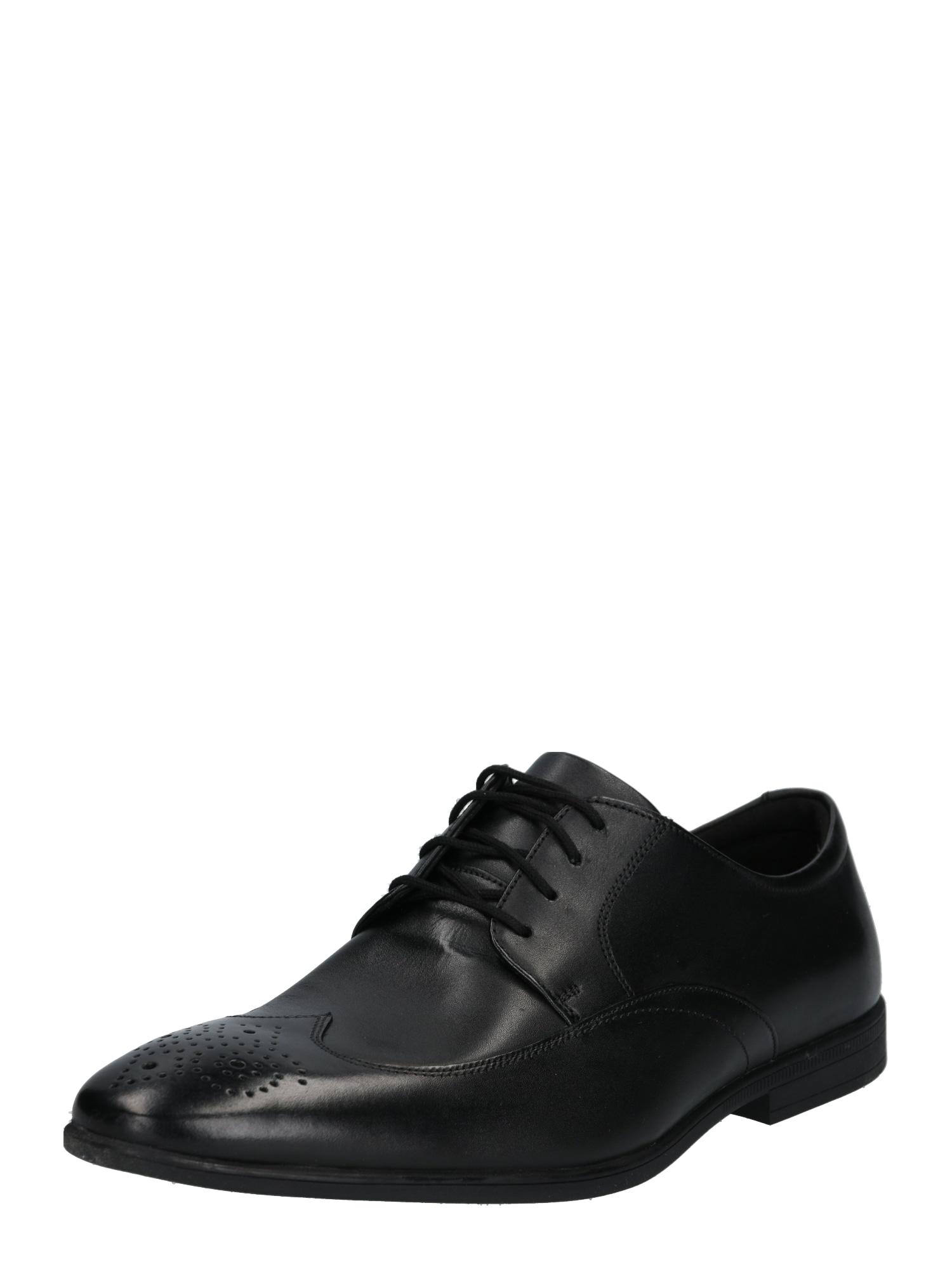 Šněrovací boty Bampton Wing černá CLARKS