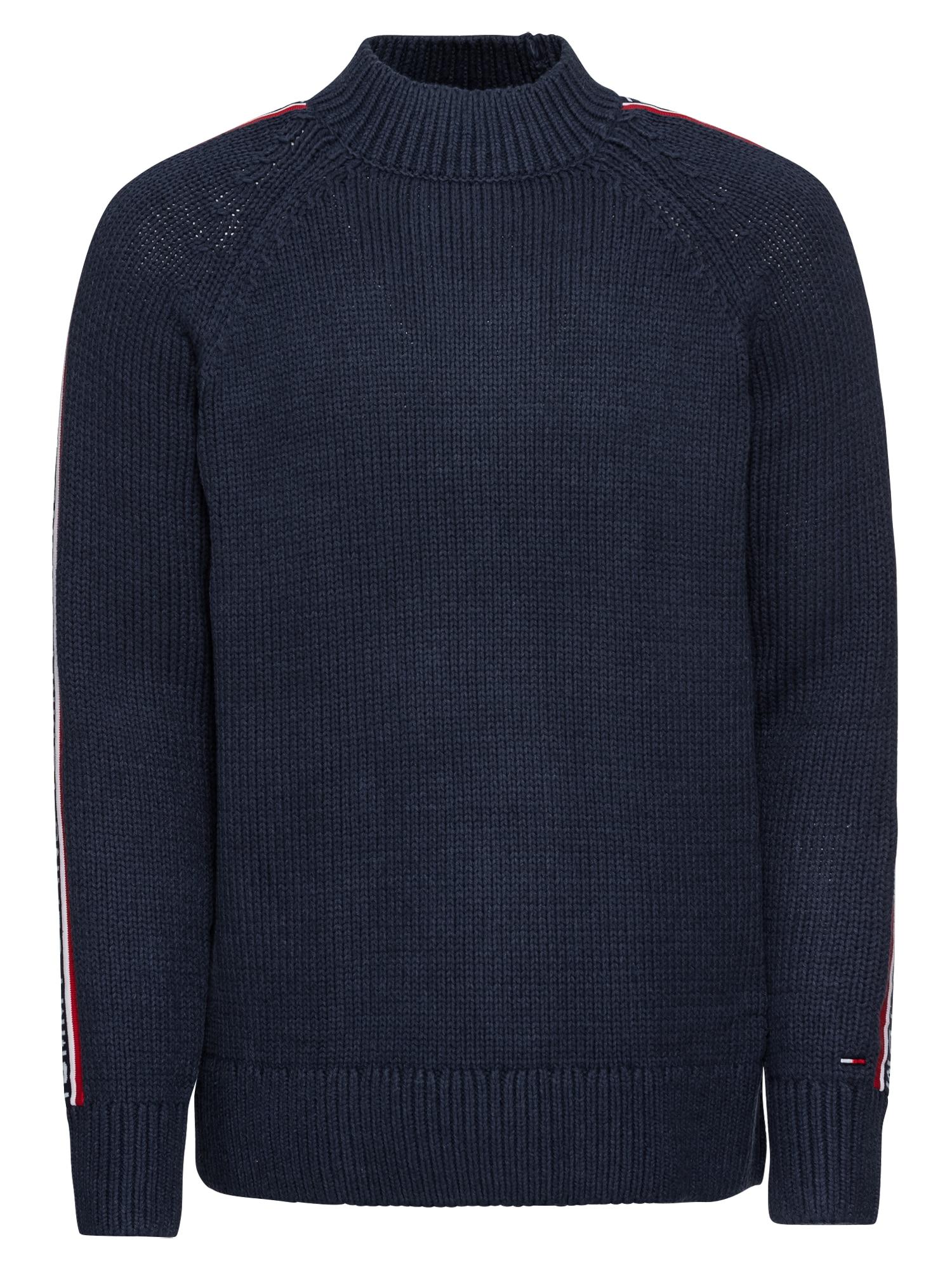 Svetr TJM TOMMY TAPE SWEATER tmavě modrá Tommy Jeans