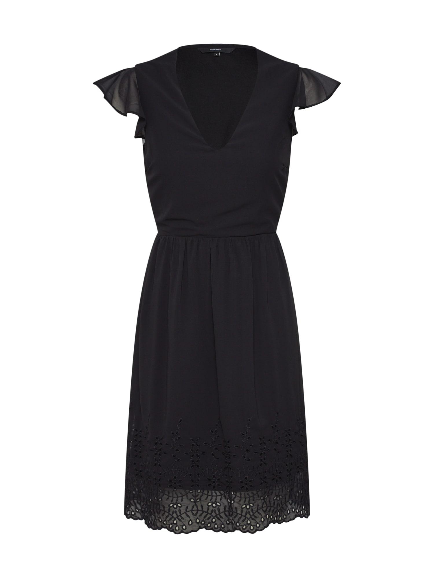 VERO MODA Sukienka koktajlowa 'VMAISHA SL DRESS WVN'  czarny