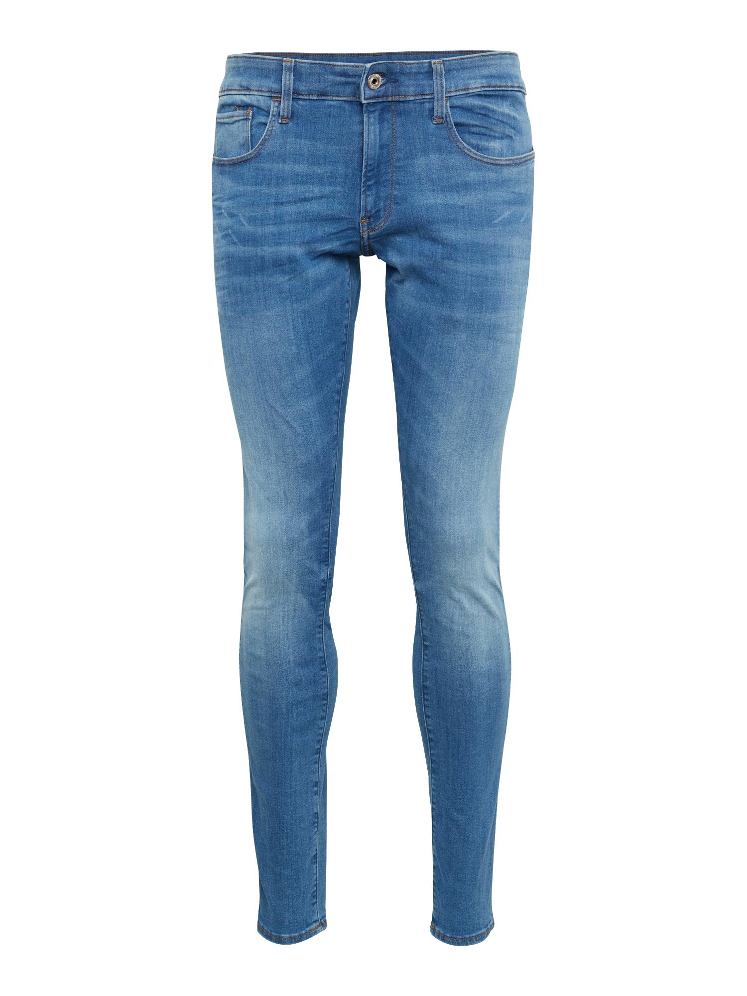 G-STAR RAW Heren Jeans 3301 Deconstructed Skinny blauw denim