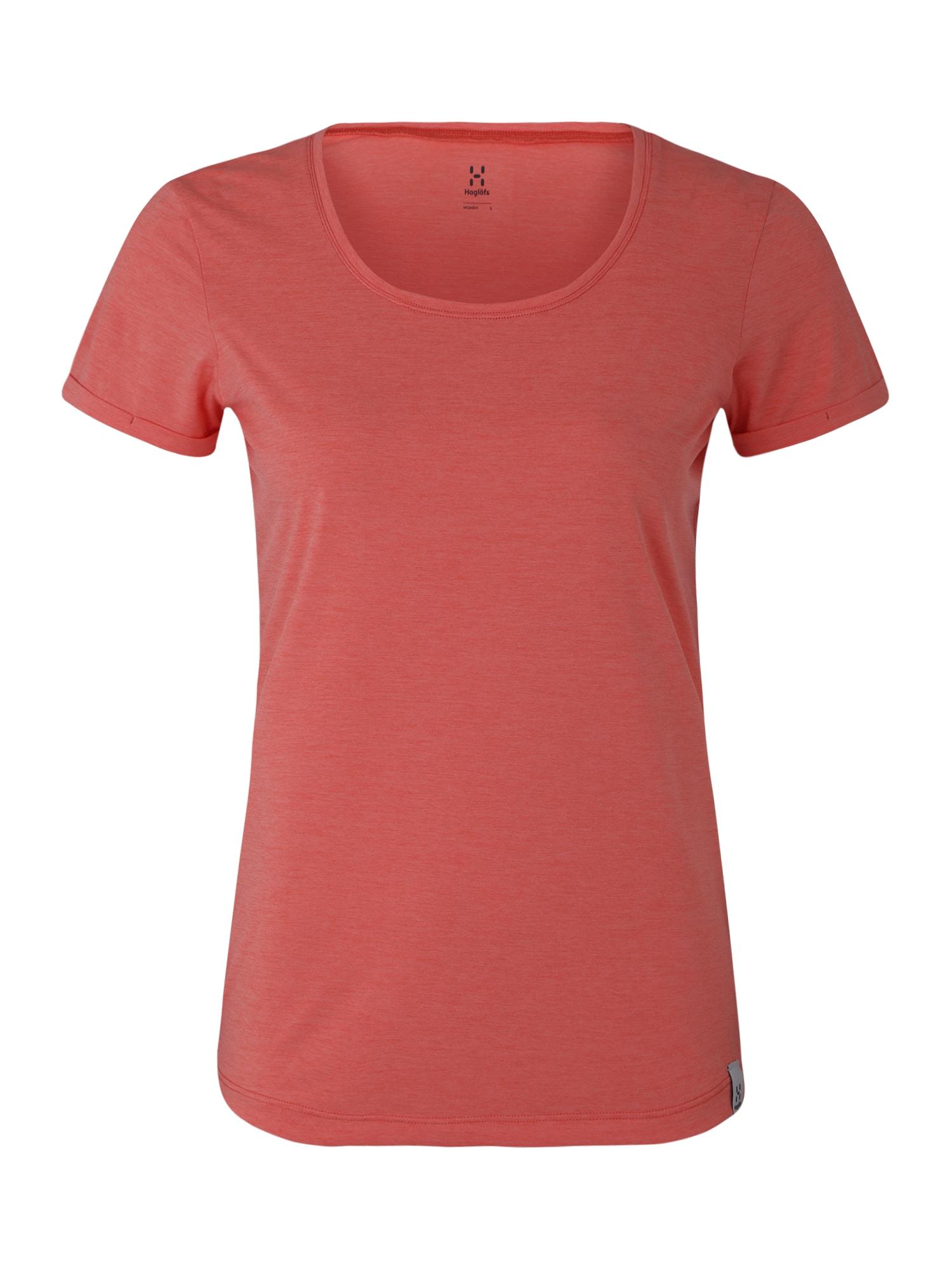 Funkční tričko pastelově červená Haglöfs