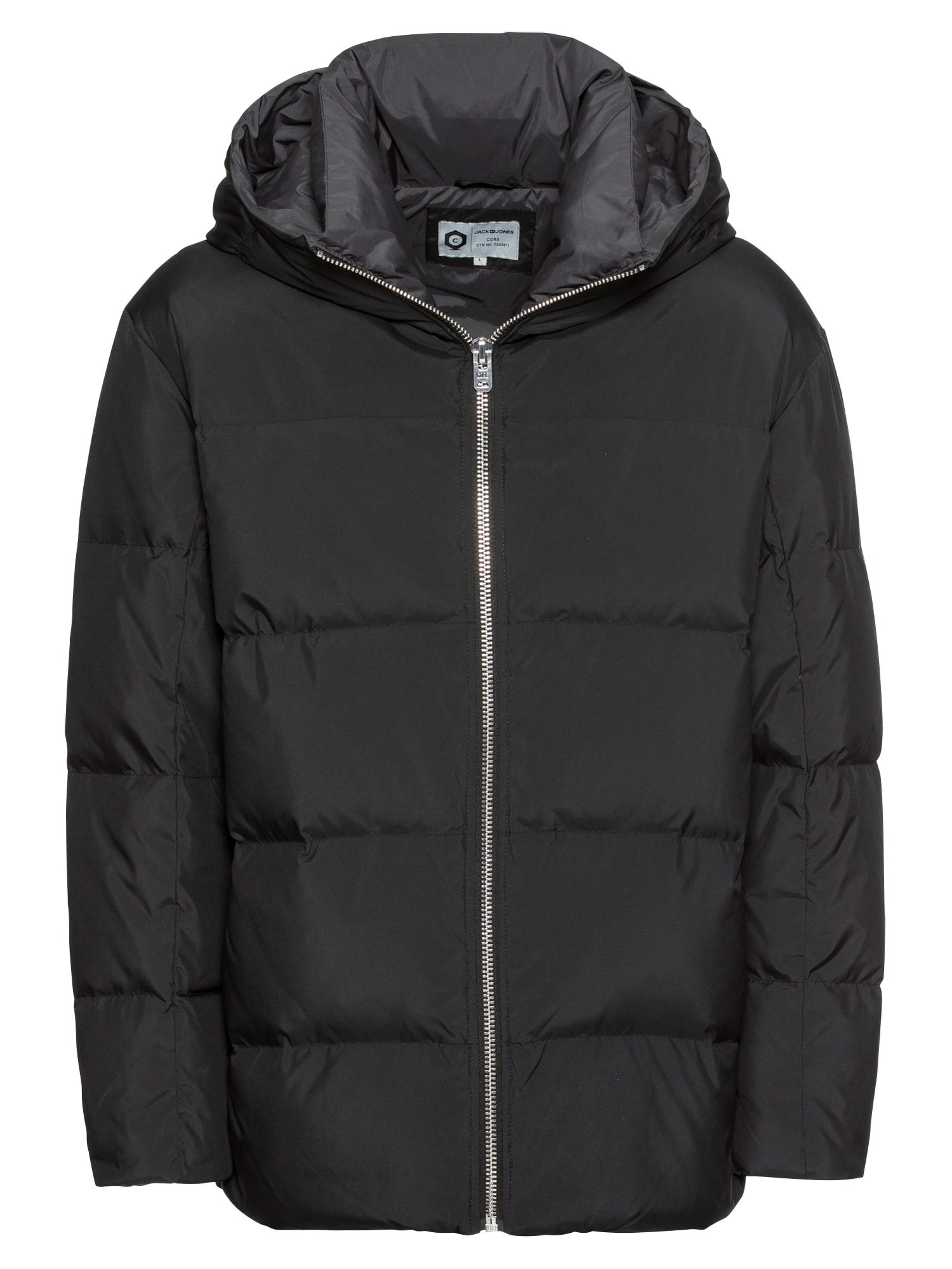 Zimní bunda JCOROUND šedá černá JACK & JONES