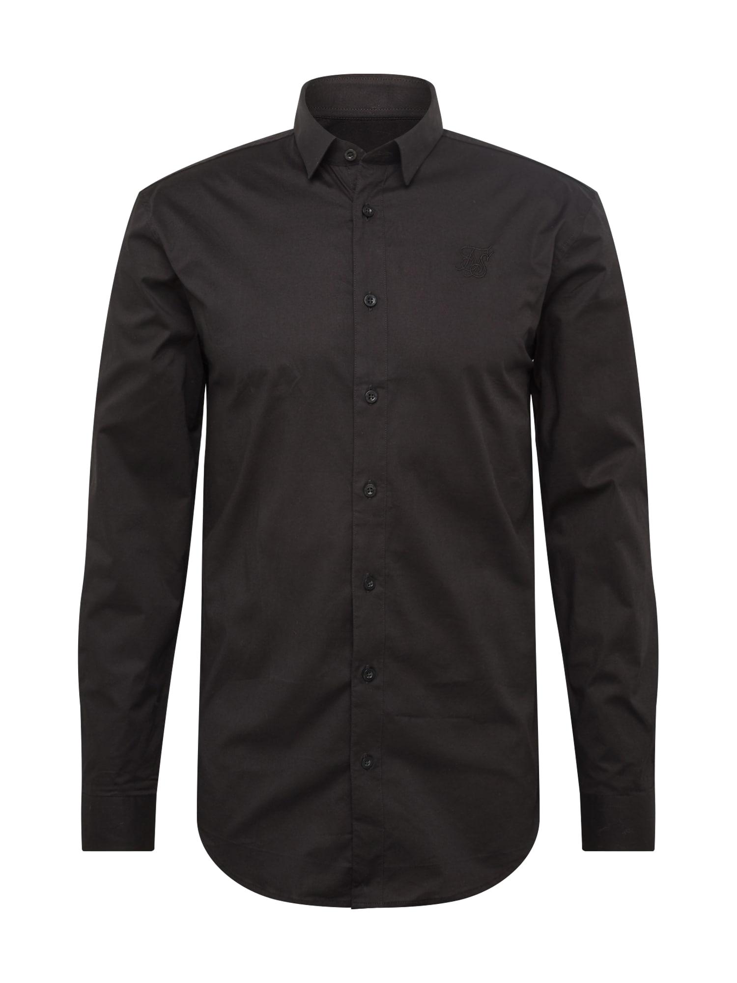 Společenská košile černá SikSilk
