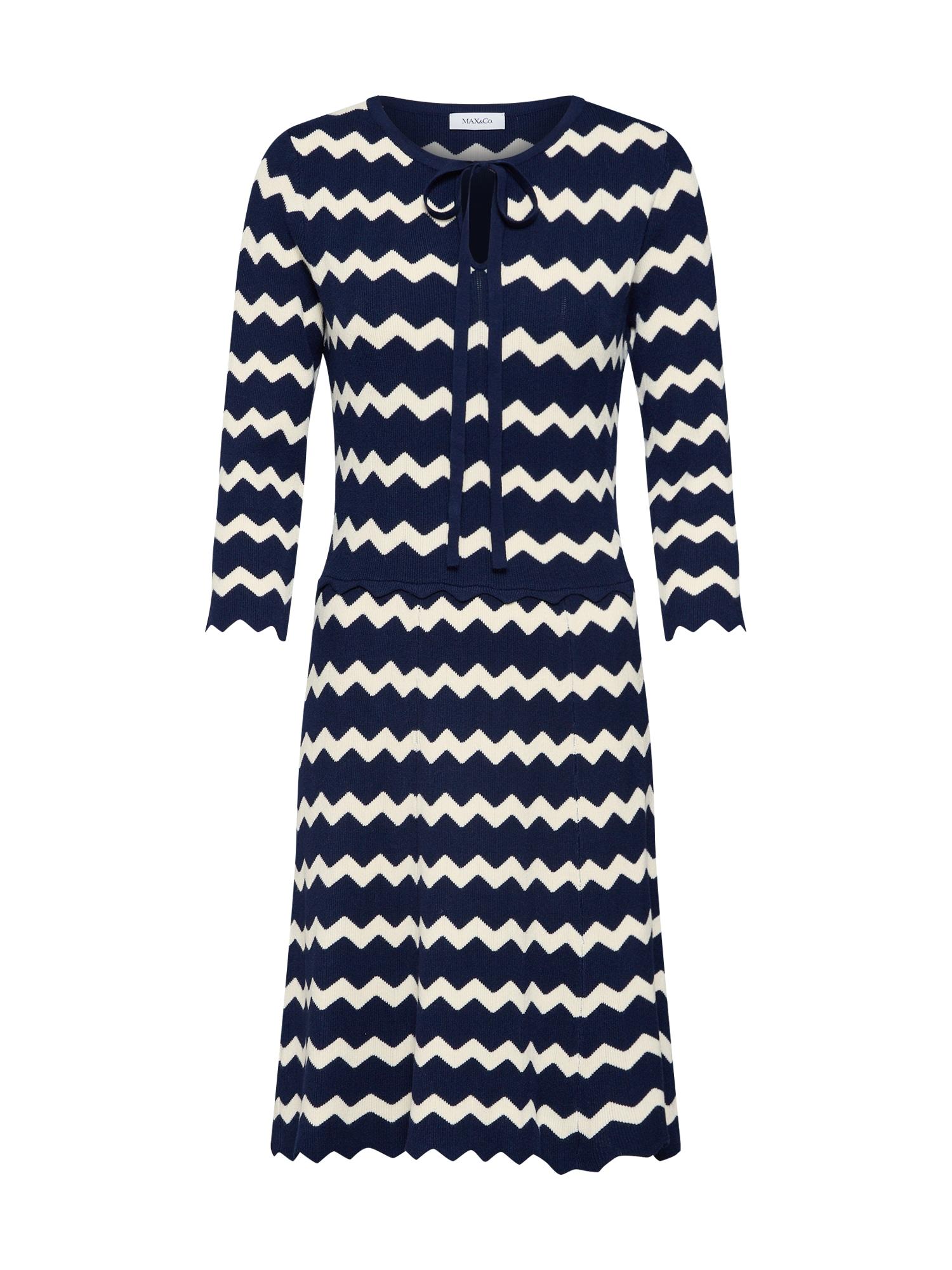 Šaty CRISTINA námořnická modř bílá MAX&Co.