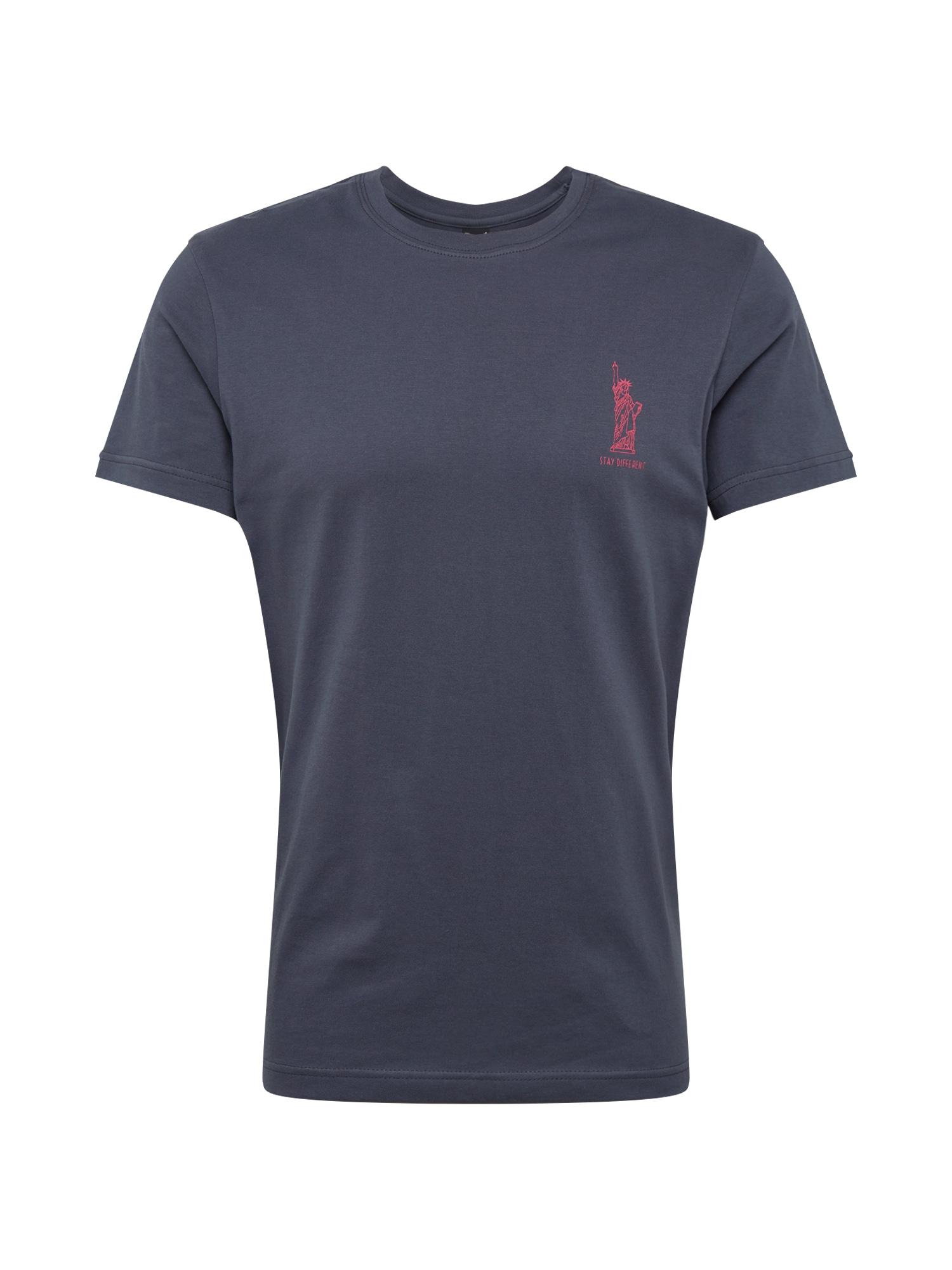 Tričko Liberteria Tee kouřově modrá Iriedaily