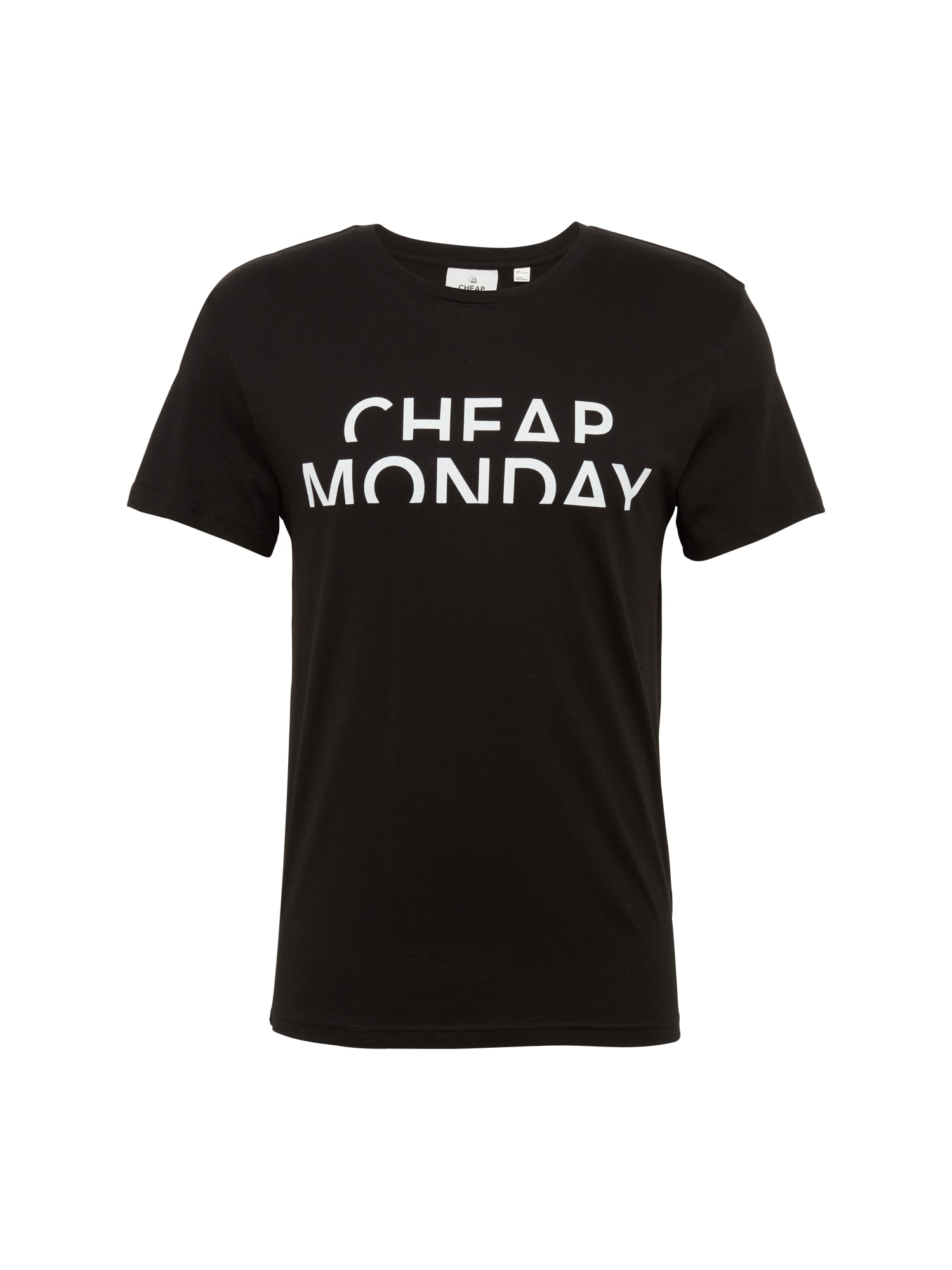CHEAP MONDAY Heren Shirt Standard tee Spliced cheap zwart wit