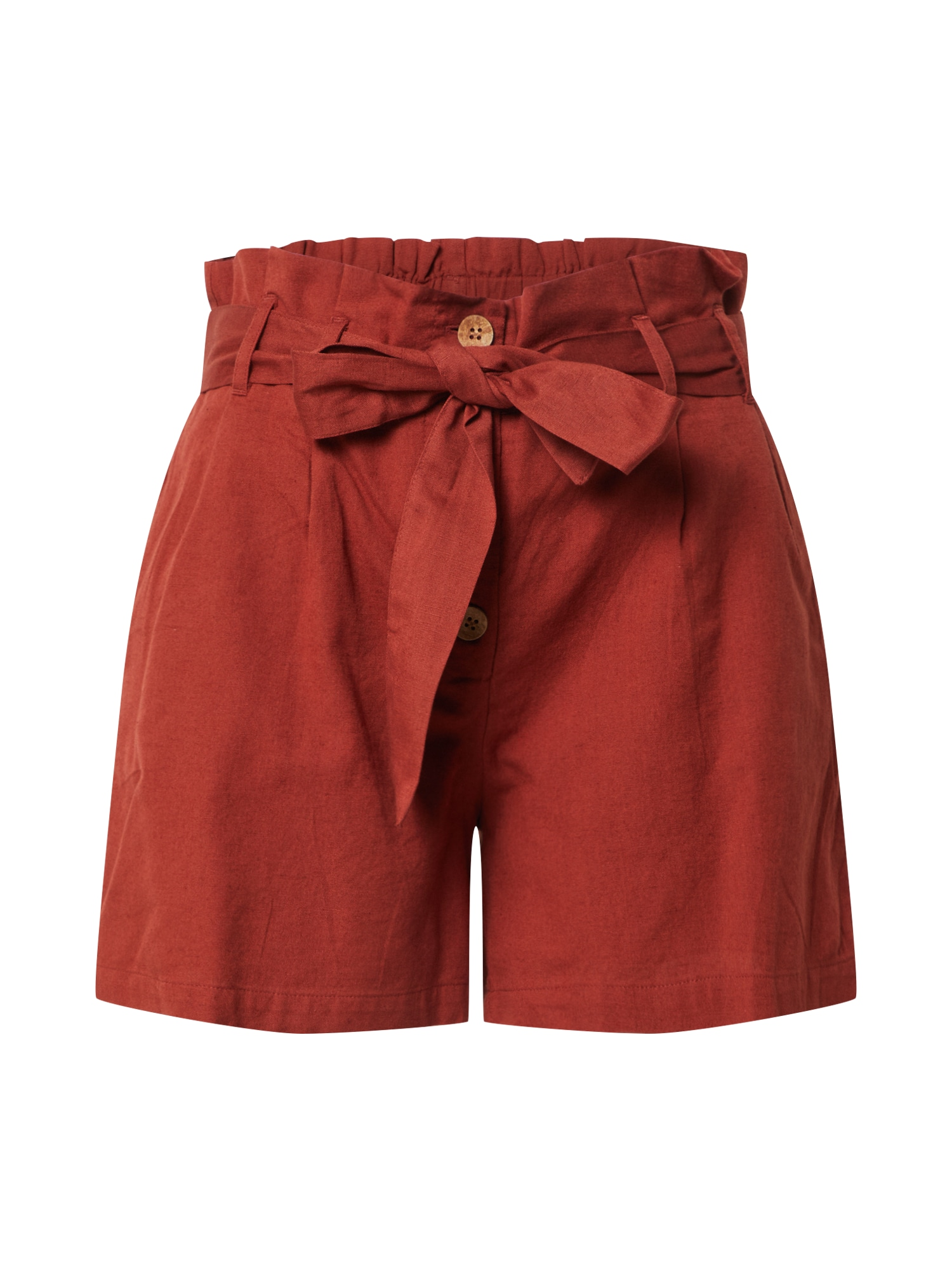 Noisy May Kalhoty se sklady v pase 'NMHIRAM'  kaštanově hnědá / oranžově červená / rezavě hnědá