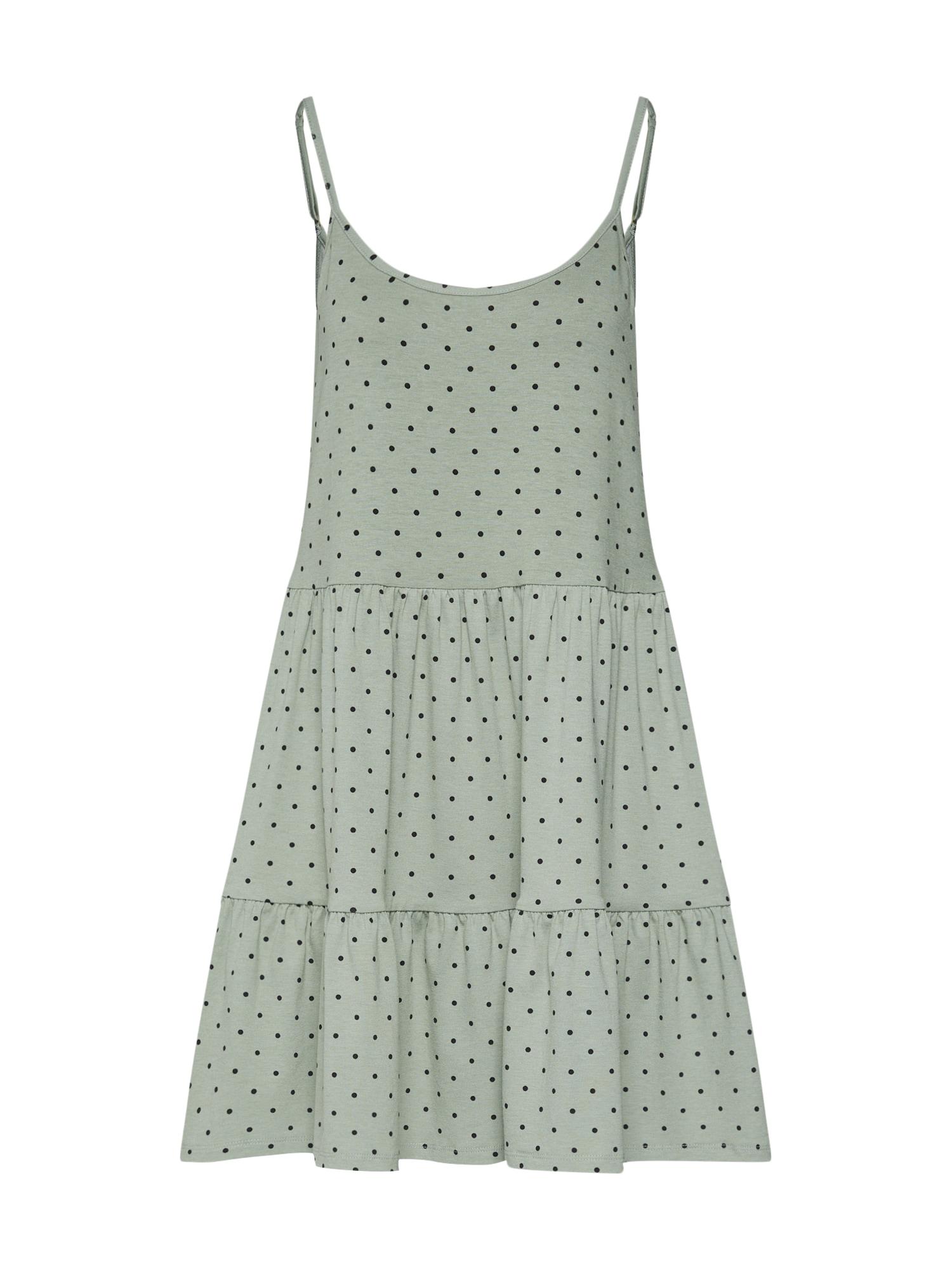 Letní šaty zelená černá Envii