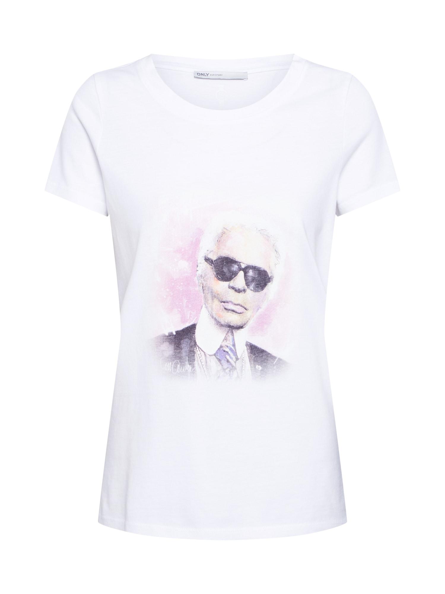 Tričko KARL bílá ONLY