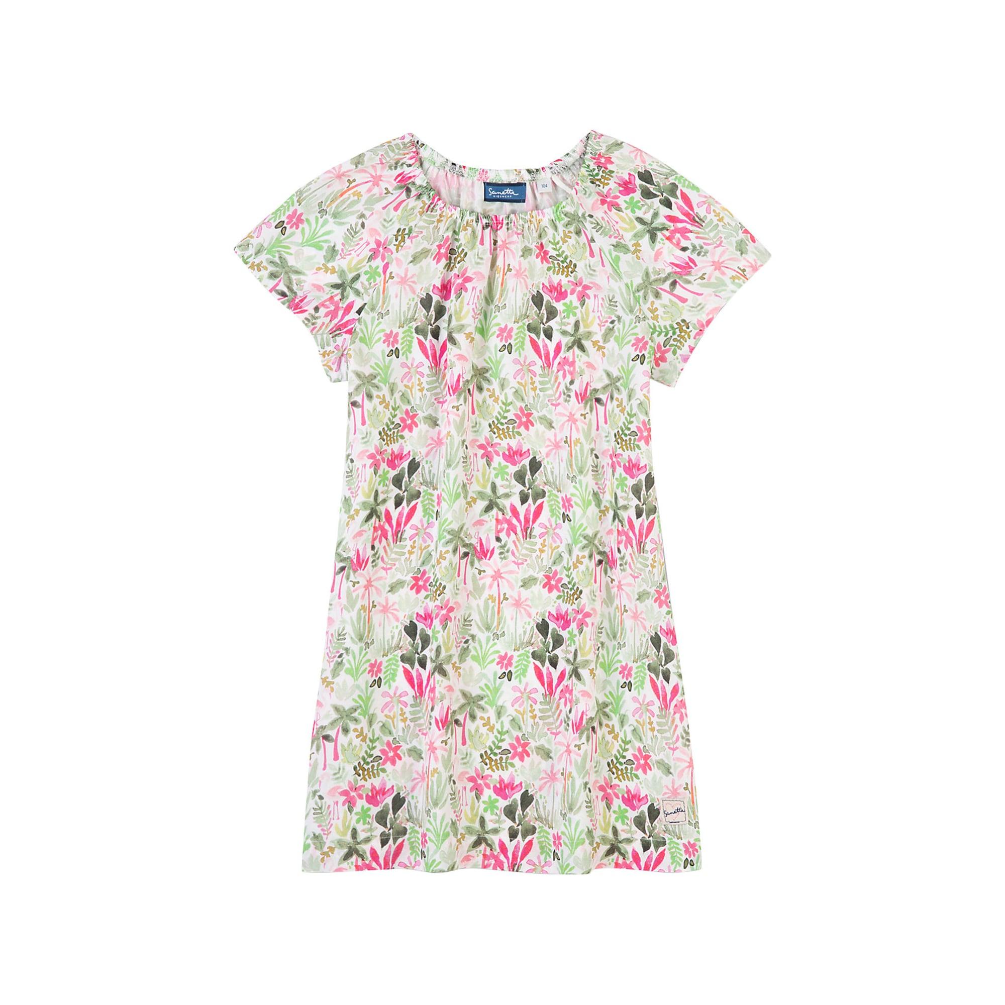 Šaty mix barev bílá Sanetta Kidswear