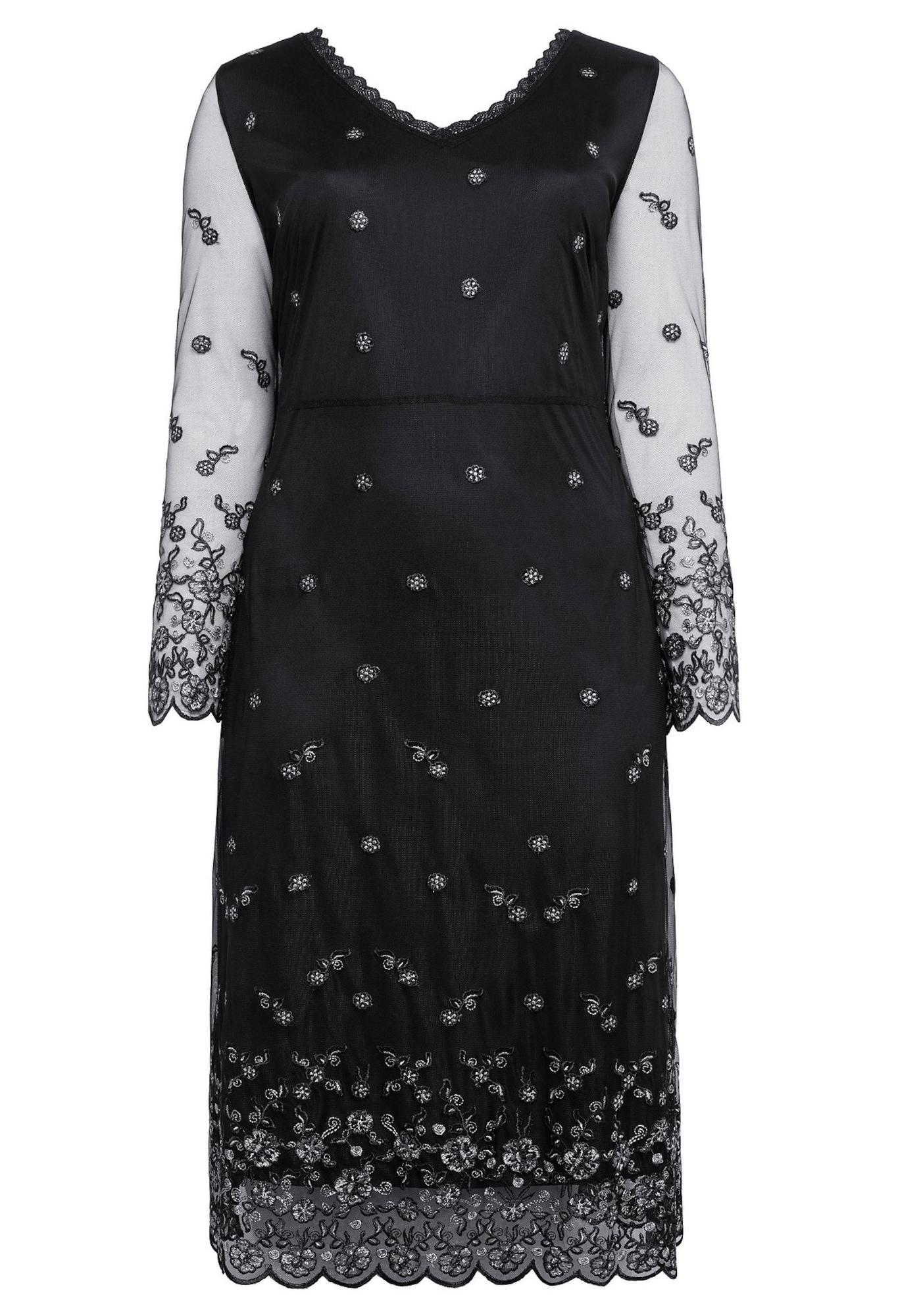 Abendkleid | Bekleidung > Kleider > Abendkleider | Schwarz - Weiß | SHEEGO