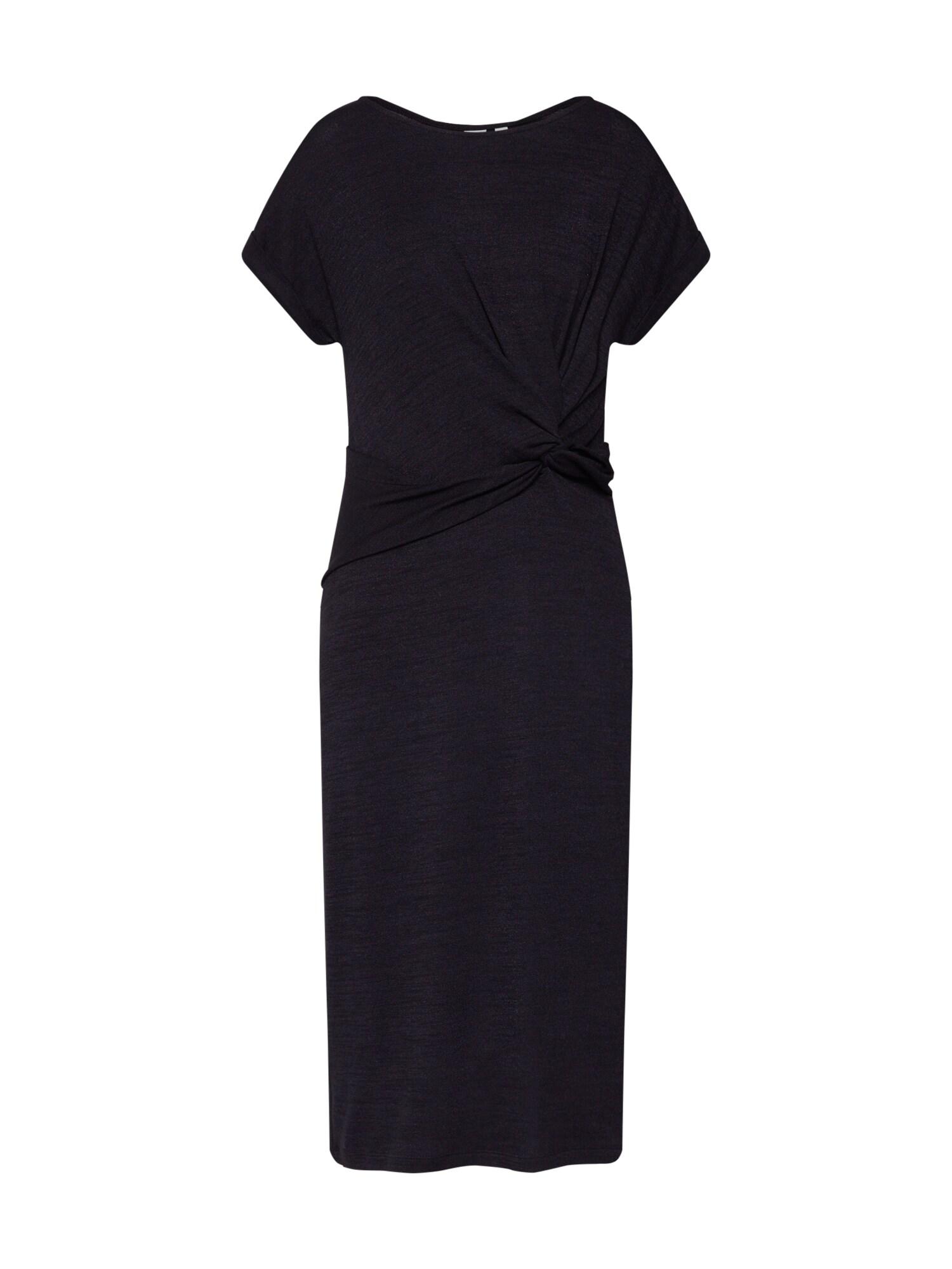 Letní šaty SSSTFSPNKNOTWSTMIDIMARL černá GAP