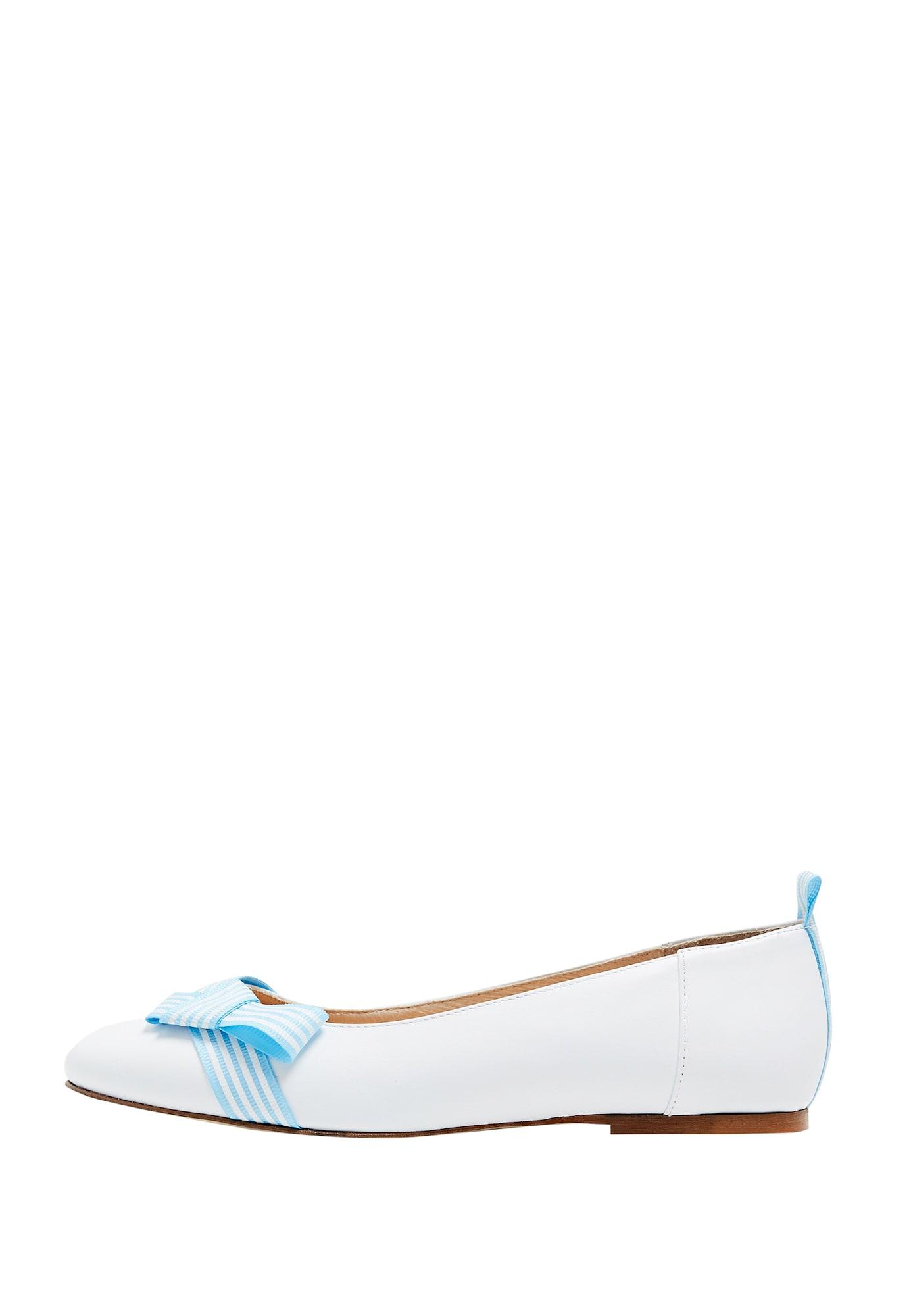 Ballerina 'Maritim' | Schuhe > Ballerinas | Hellblau - Weiß | dreimaster