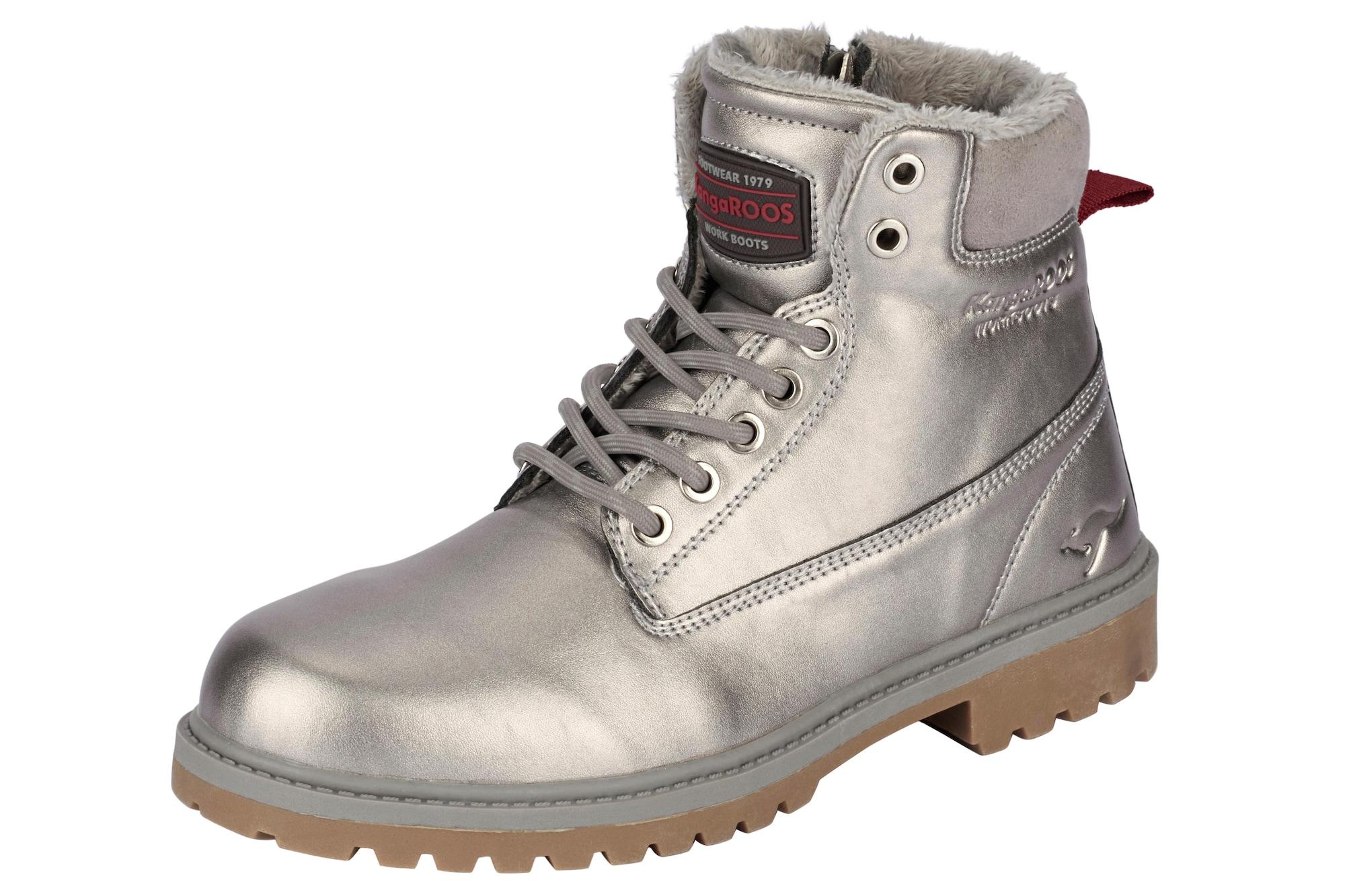 Schnürstiefelette   Schuhe > Stiefel > Schnürstiefel   Silber   Kangaroos