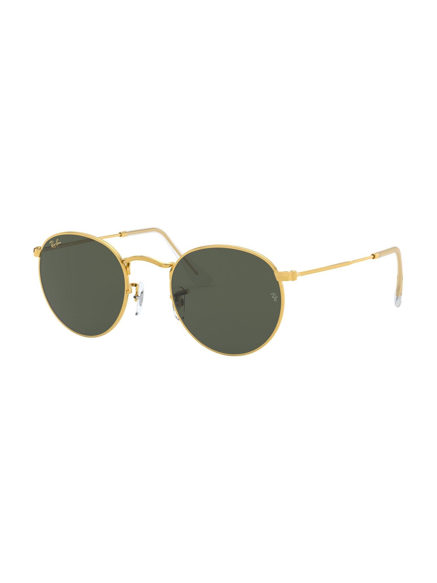 Ray-Ban Sluneční brýle 'Round metal'  černá / zlatá