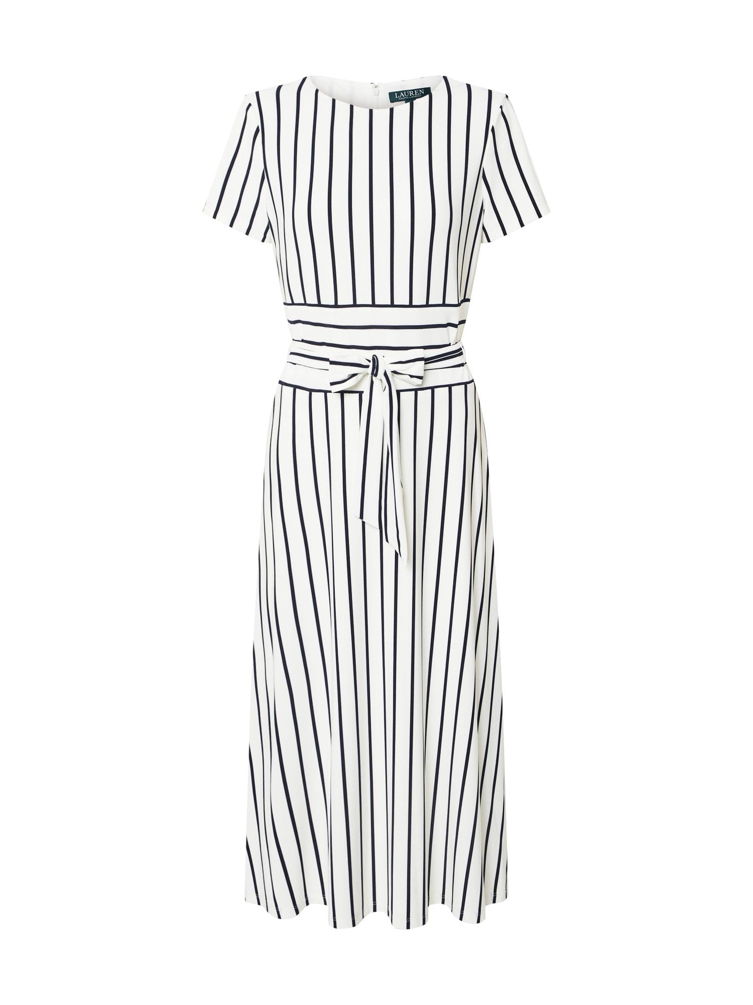 Lauren Ralph Lauren Šaty 'KRISTIE'  námornícka modrá / krémová