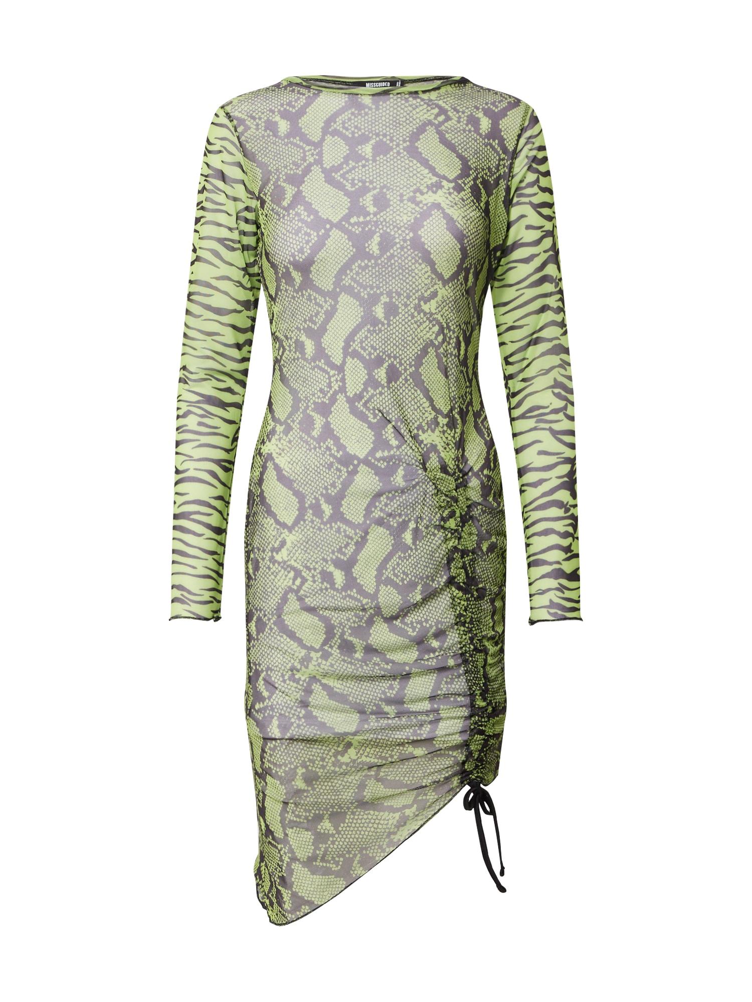 Missguided Šaty  svítivě zelená