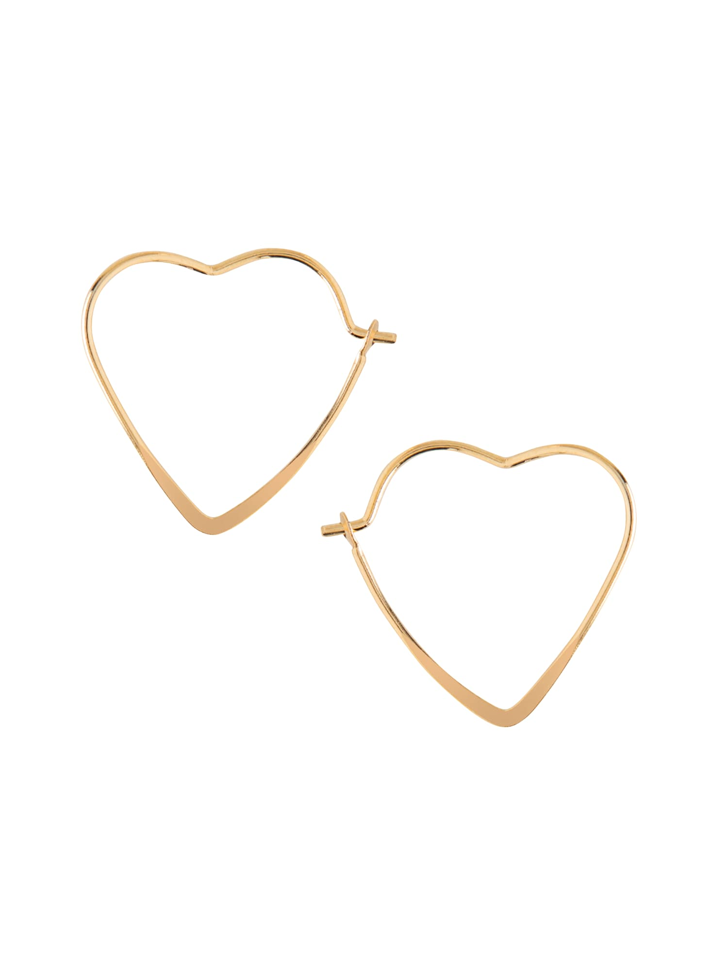 Náušnice small heart hoop zlatá Orelia