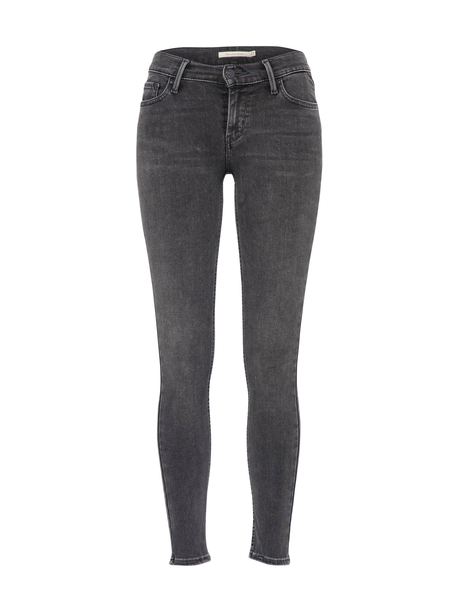 LEVI'S Dames Jeans 710 Innovation Super Skinny grey denim
