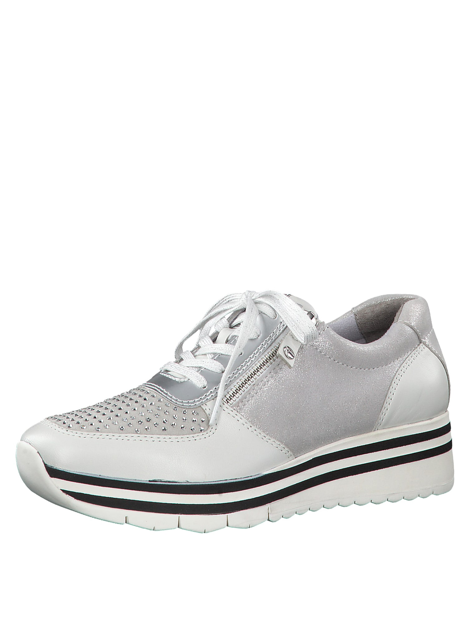 Tenisky stříbrná bílá TAMARIS