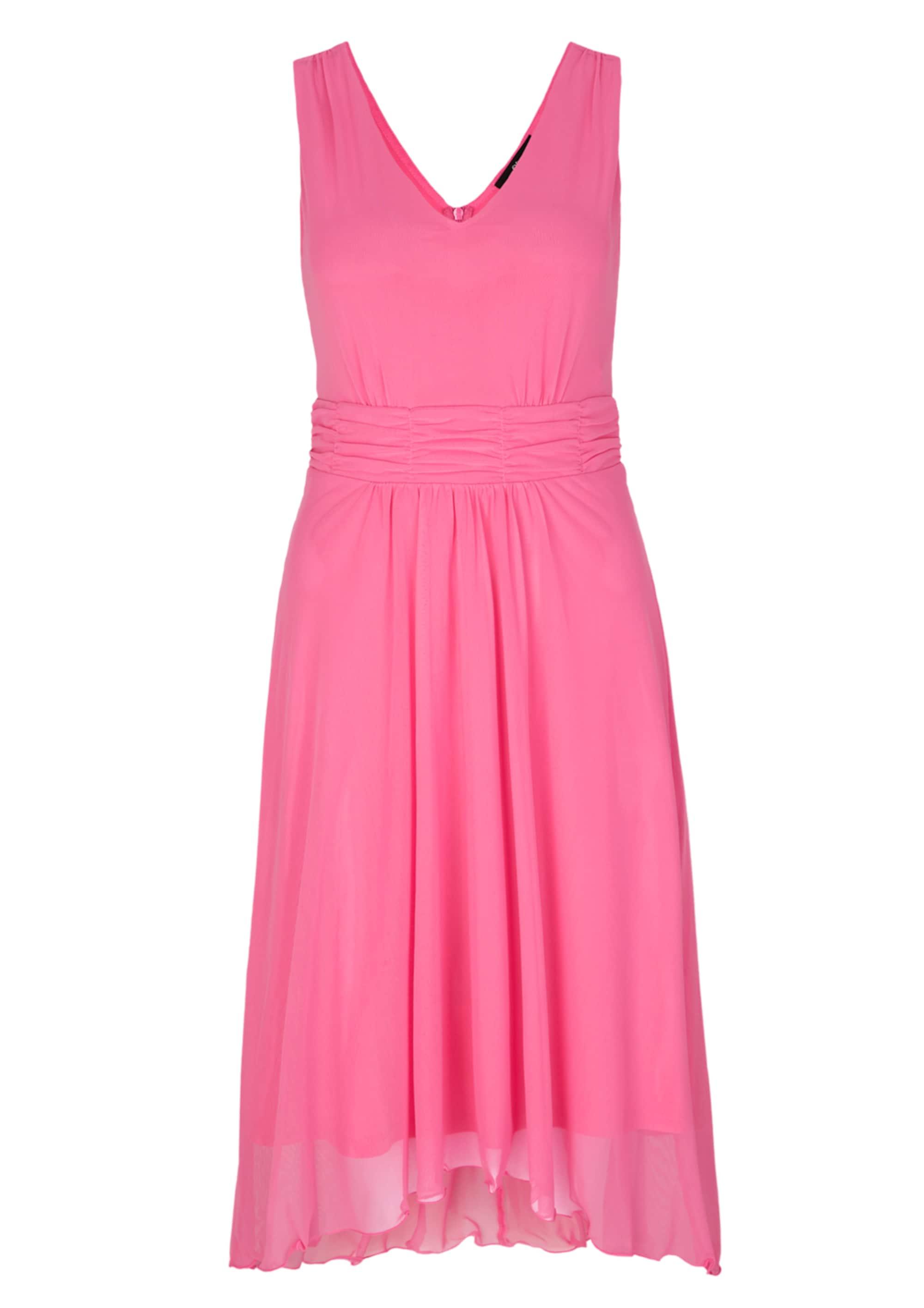 Mesh-Kleid mit High-Low-Saum