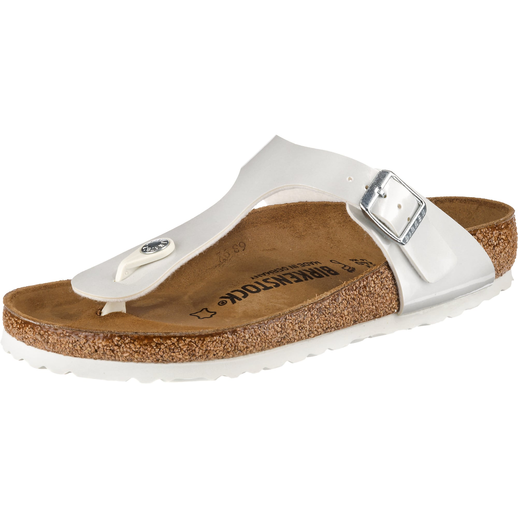 Zehentrenner 'Gizeh Bf Pearly White'   Schuhe > Sandalen & Zehentrenner > Zehentrenner   Weiß   Birkenstock