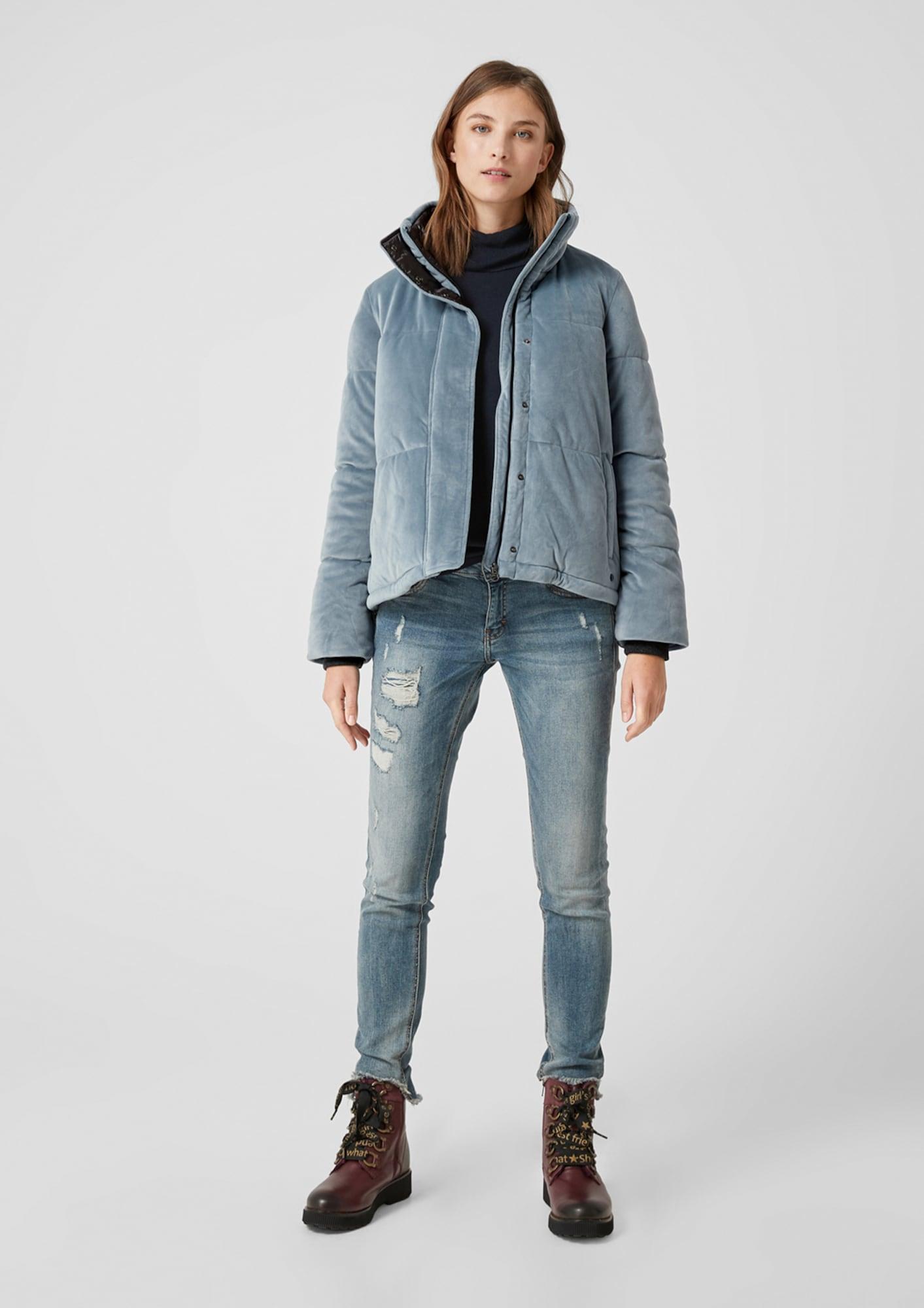 s.oliver - Puffer Jacket aus Samt