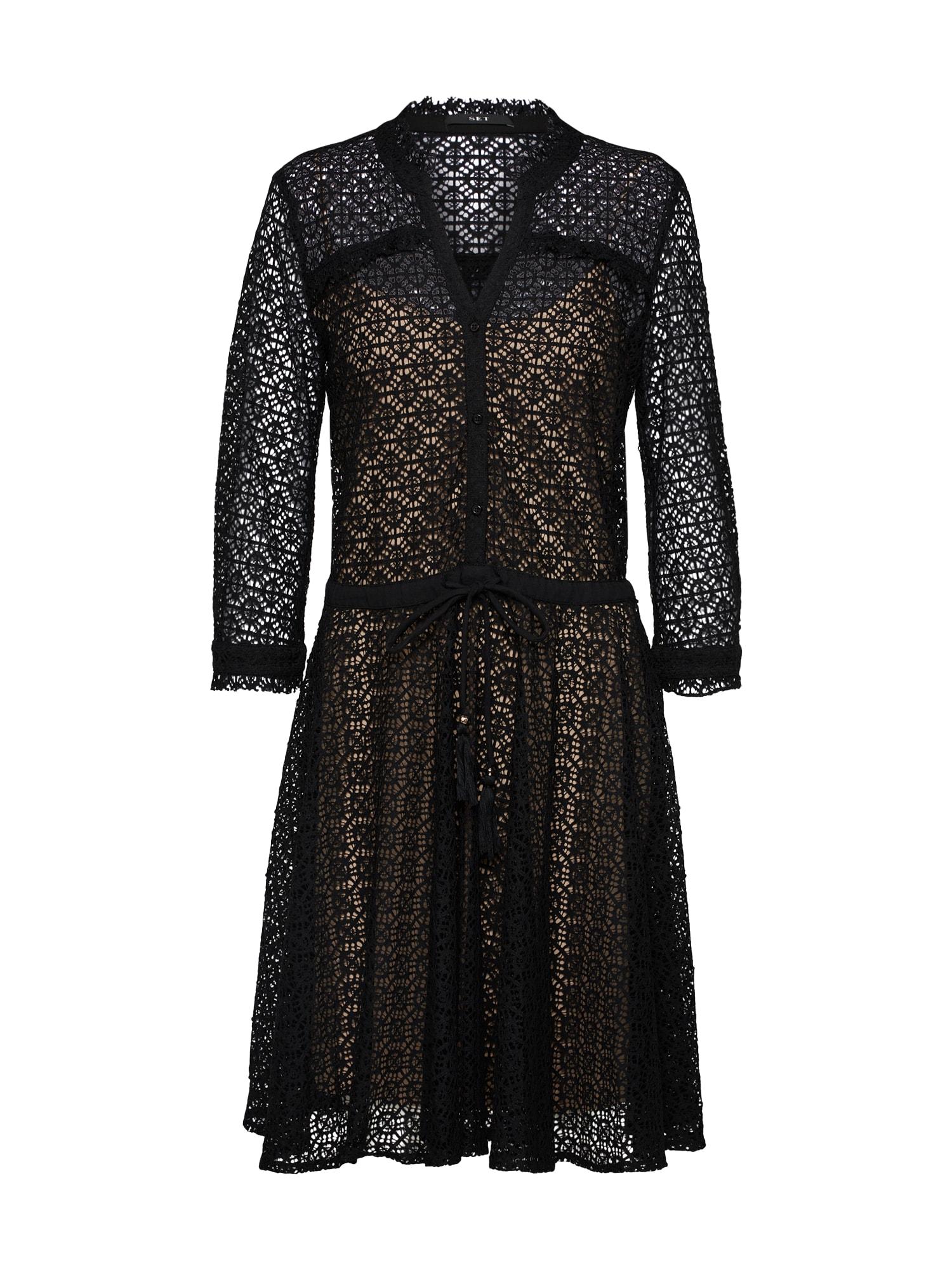 Koktejlové šaty černá SET