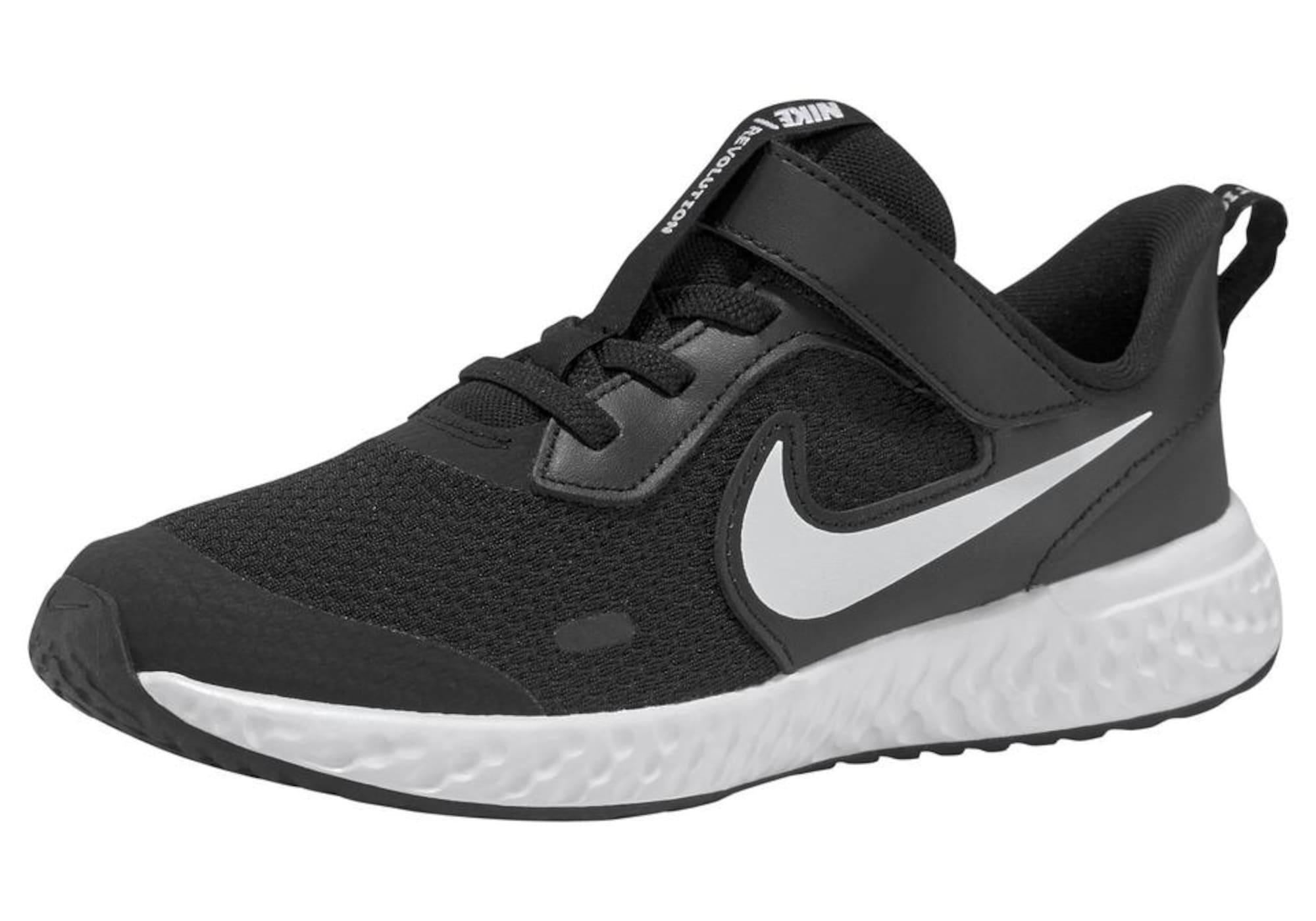 NIKE Športová obuv 'Revolution 5'  biela / čierna