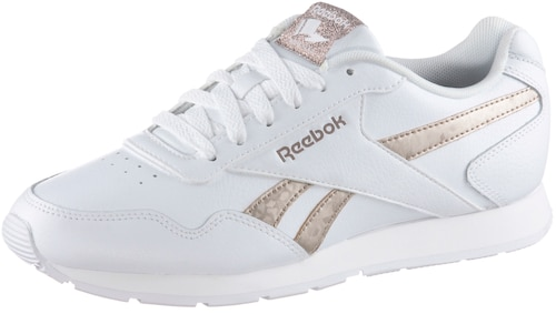 Reebok ROYAL GLIDE. Sneaker aus angerautem Leder 6-Loch-Schnürung mit Mesh gefüttert mit softer MemoryTech-Einlegesohle Schaft gepolstert rutschfeste Gummisohle mit Profil.