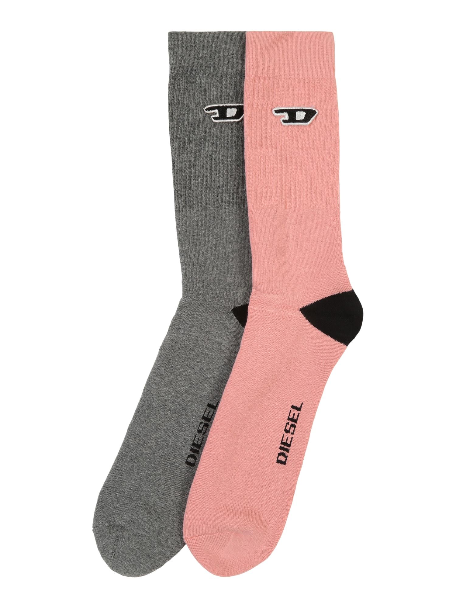 Ponožky SKM-RAY šedá růžová DIESEL