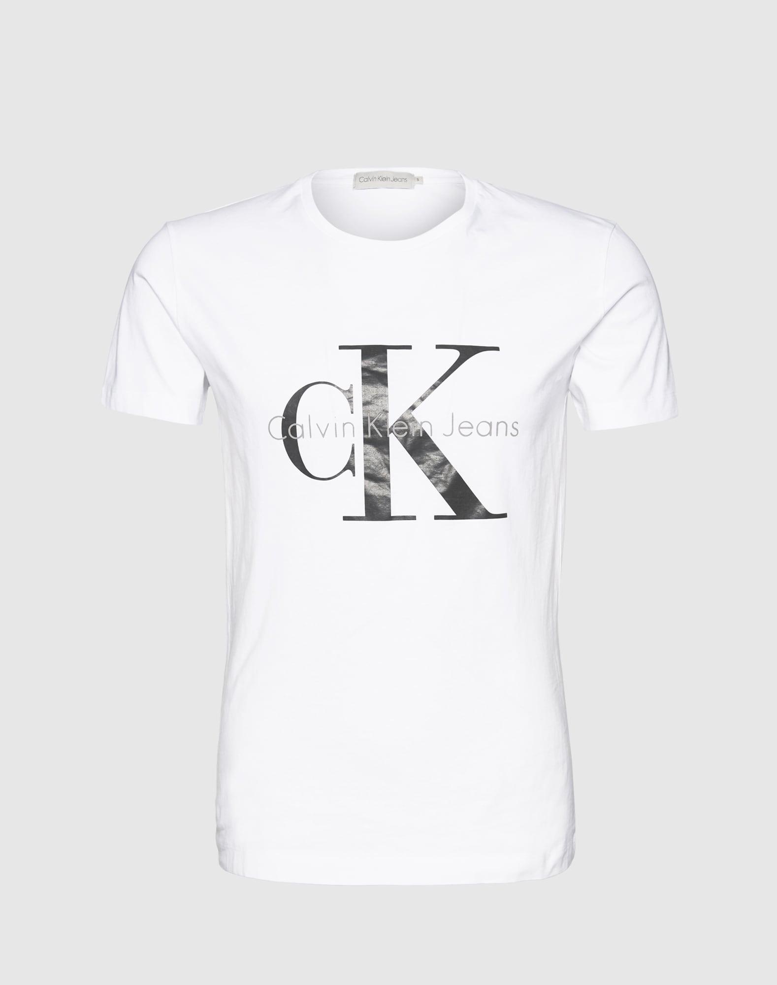 Calvin Klein Jeans, Heren Shirt, zwart - wit