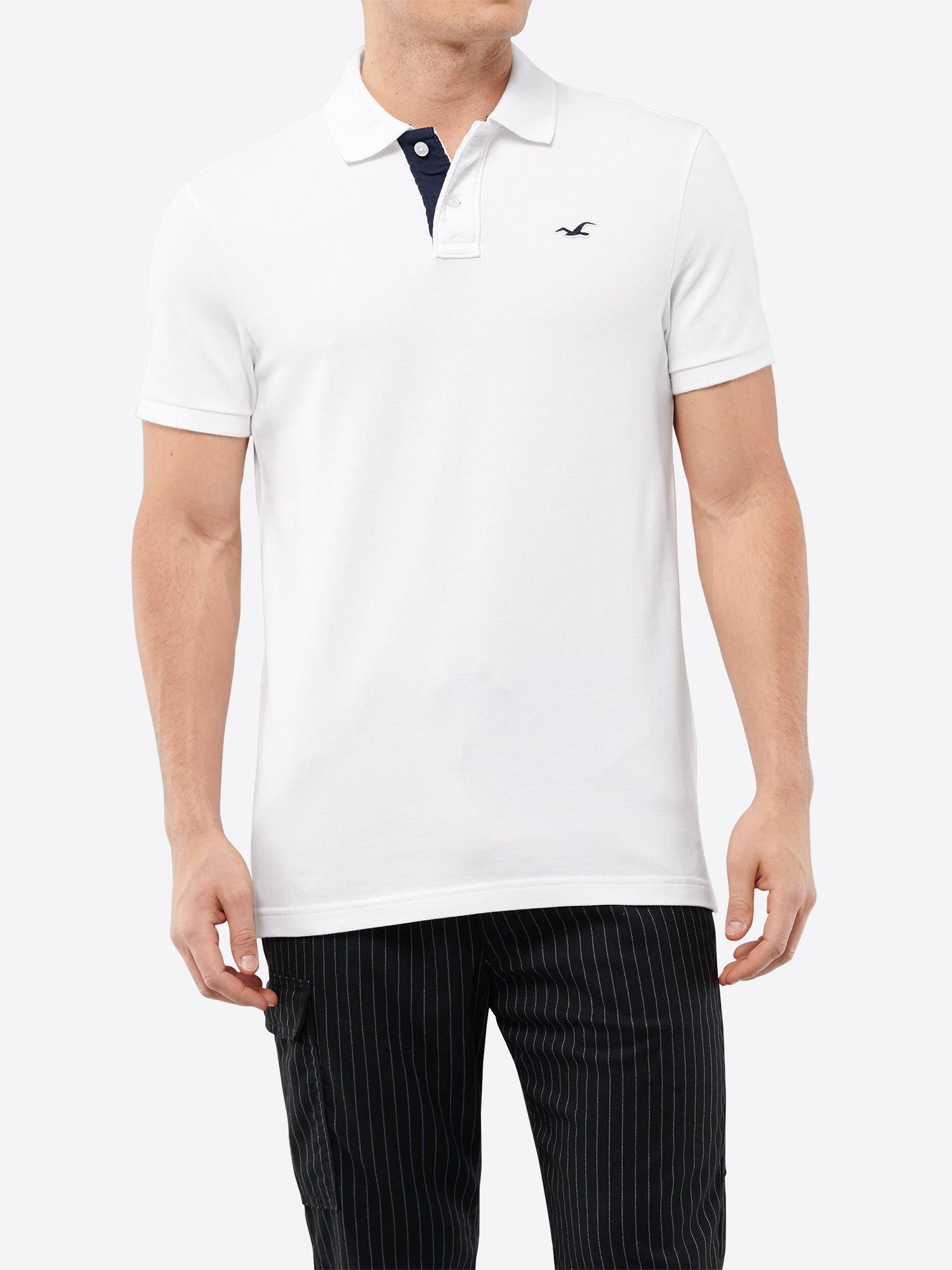 hollister - Shirt 'HERITAGE POLO SOLID NEUTRALS'