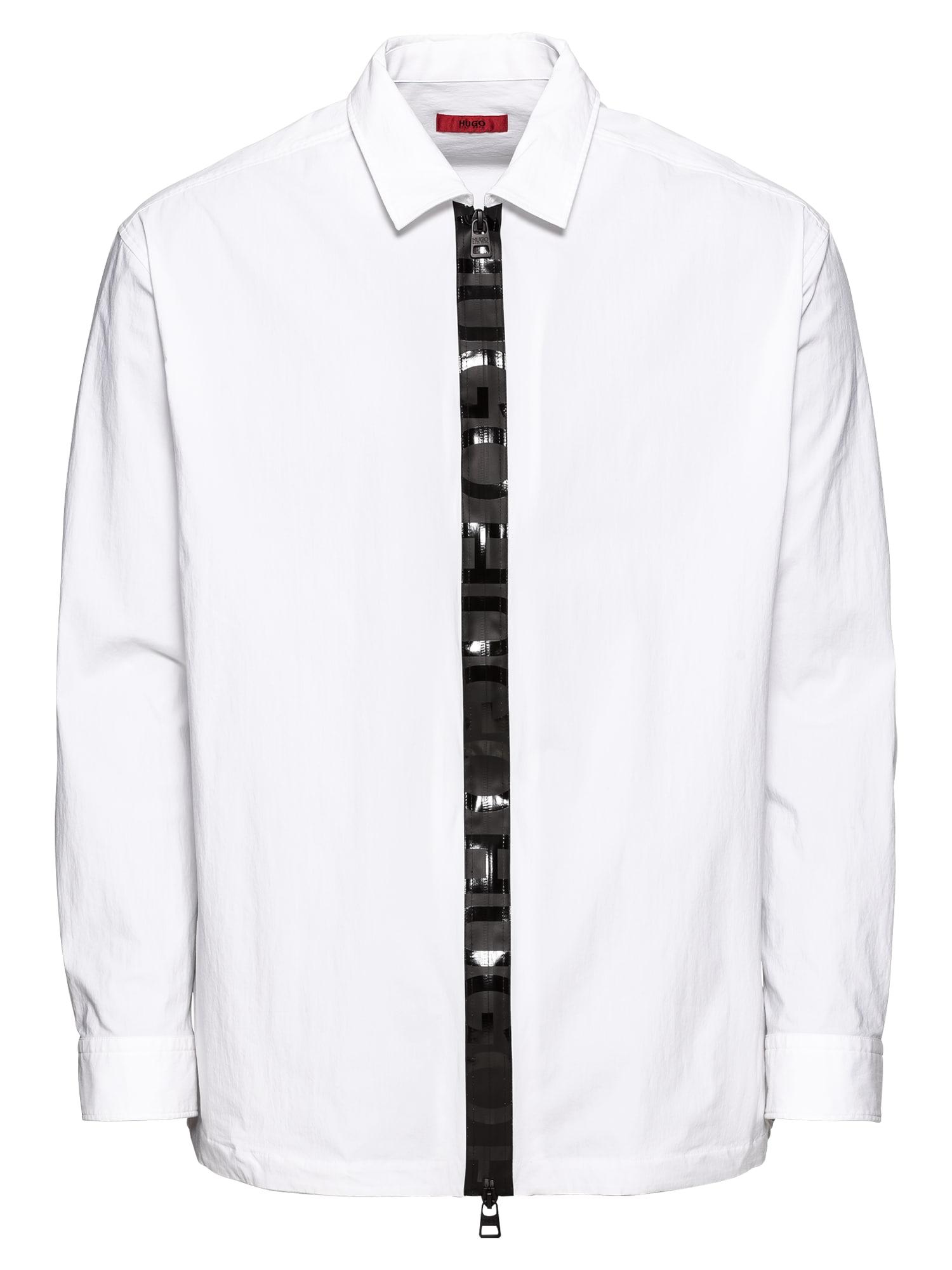 Košile Eiry 10211346 01 černá bílá HUGO