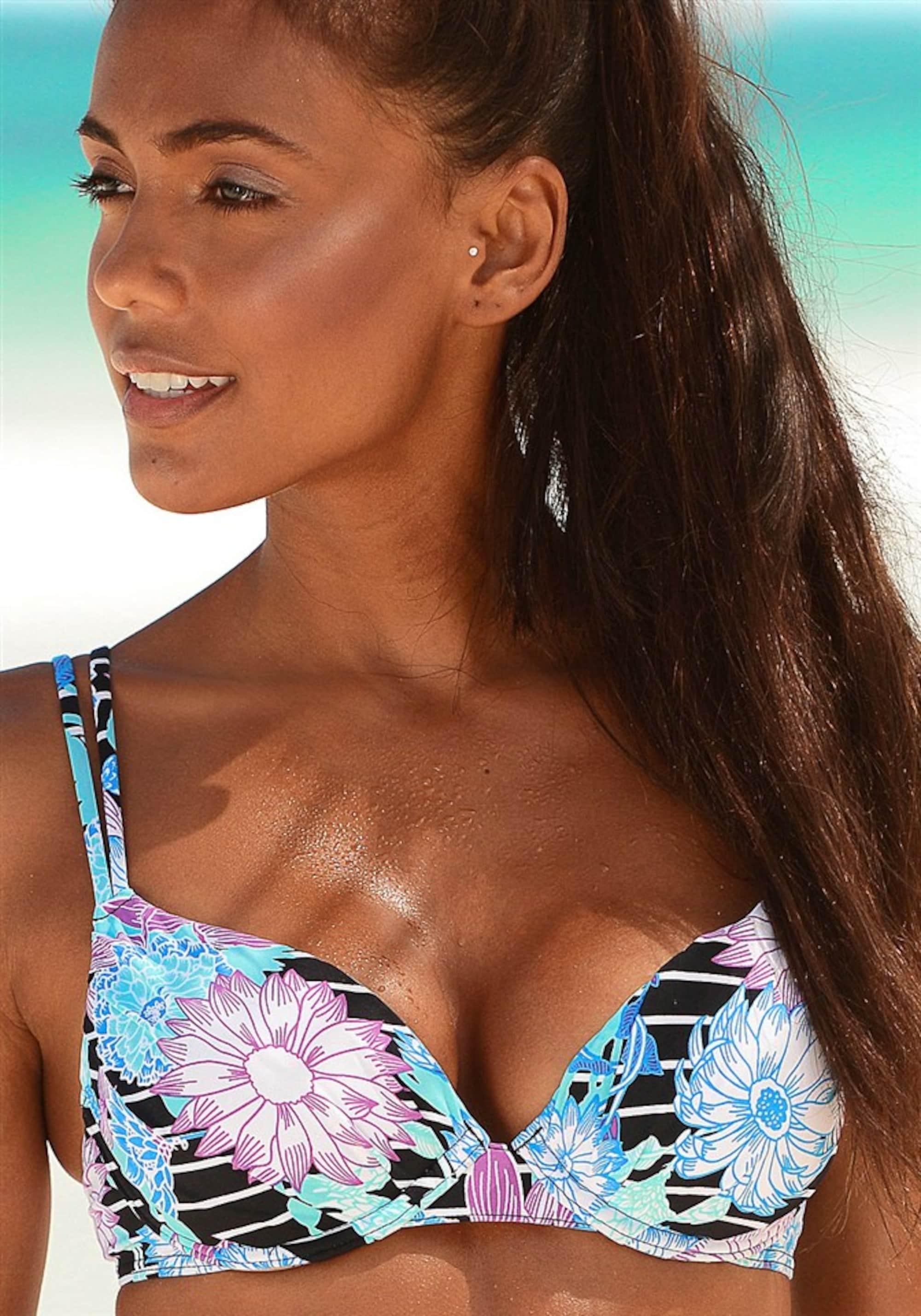 SUNSEEKER Bikini góra 'Malibu'  aqua / czarny
