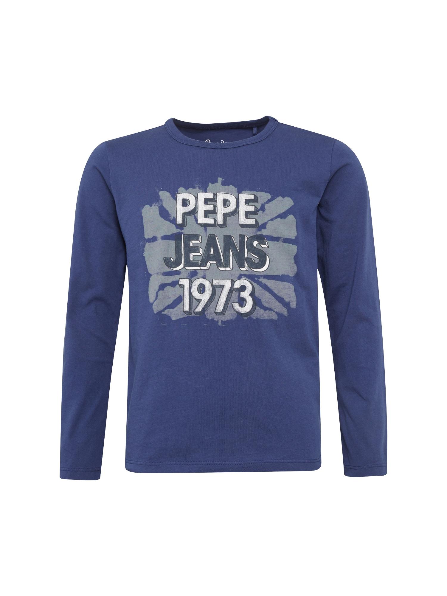 Pepe Jeans Jongens Shirt JUNE JR blauw grijs