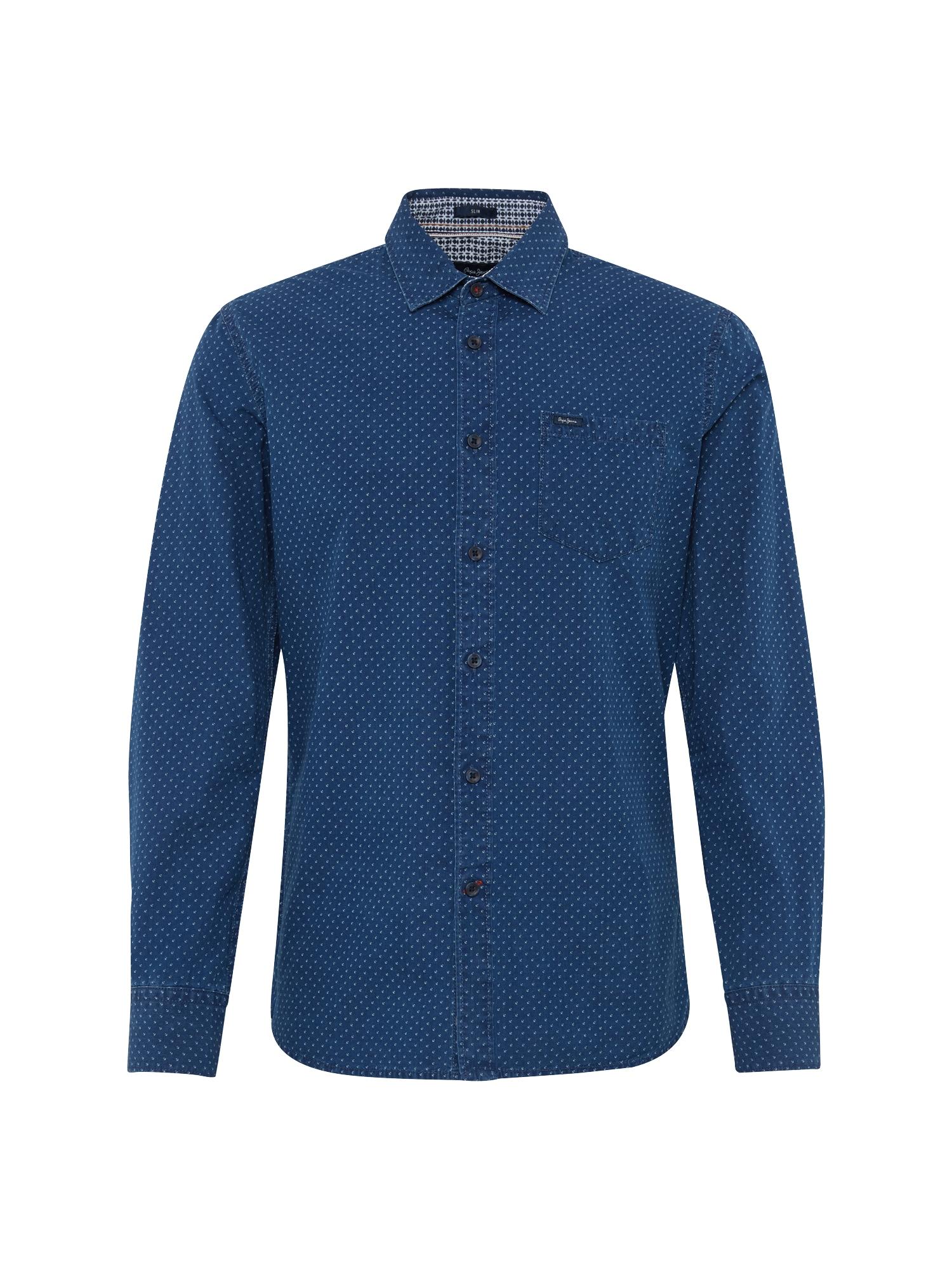 Pepe Jeans Heren Overhemd KAORU donkerblauw
