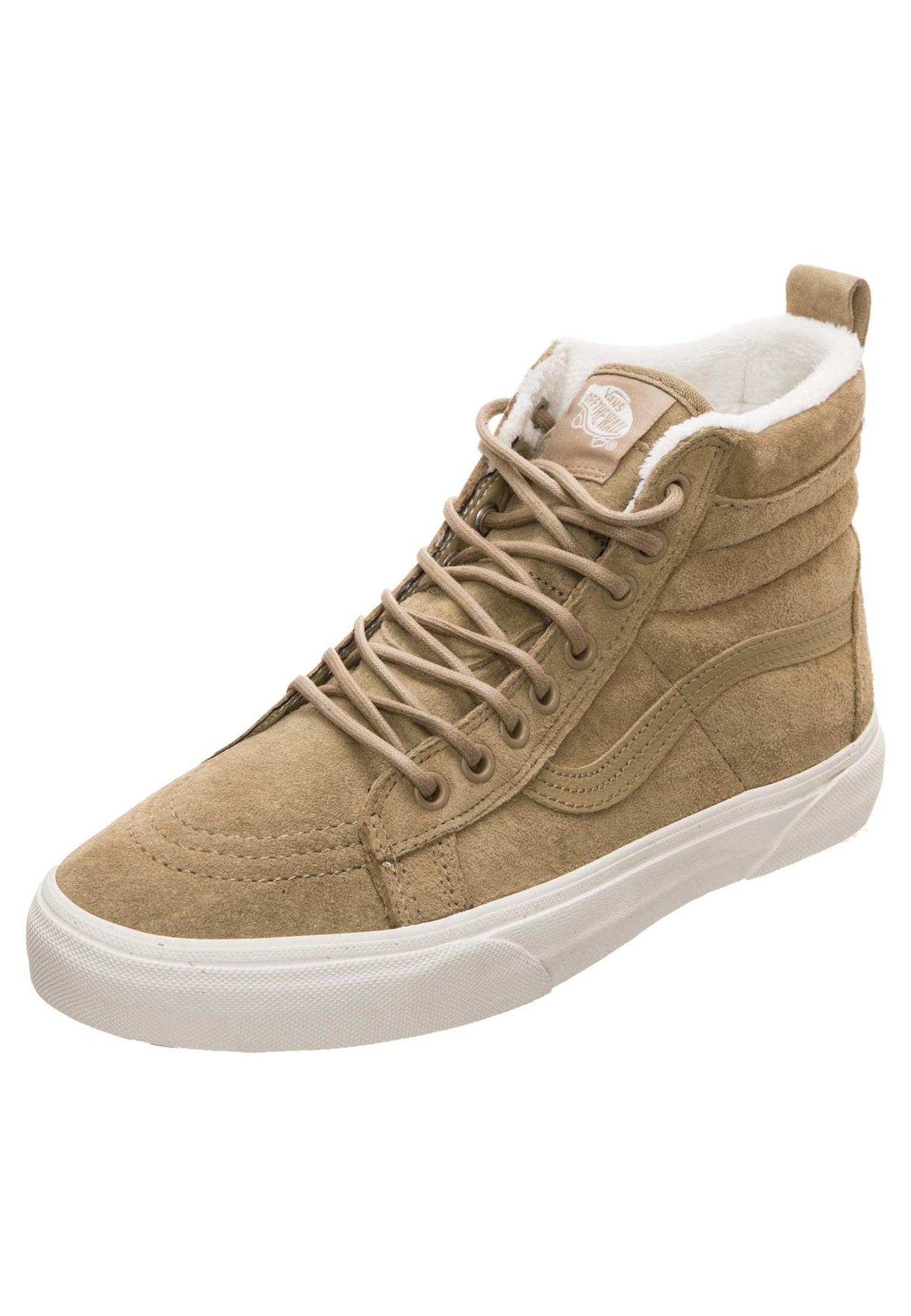 VANS, Dames Sneakers hoog 'Sk8-Hi MTE', bruin / wit