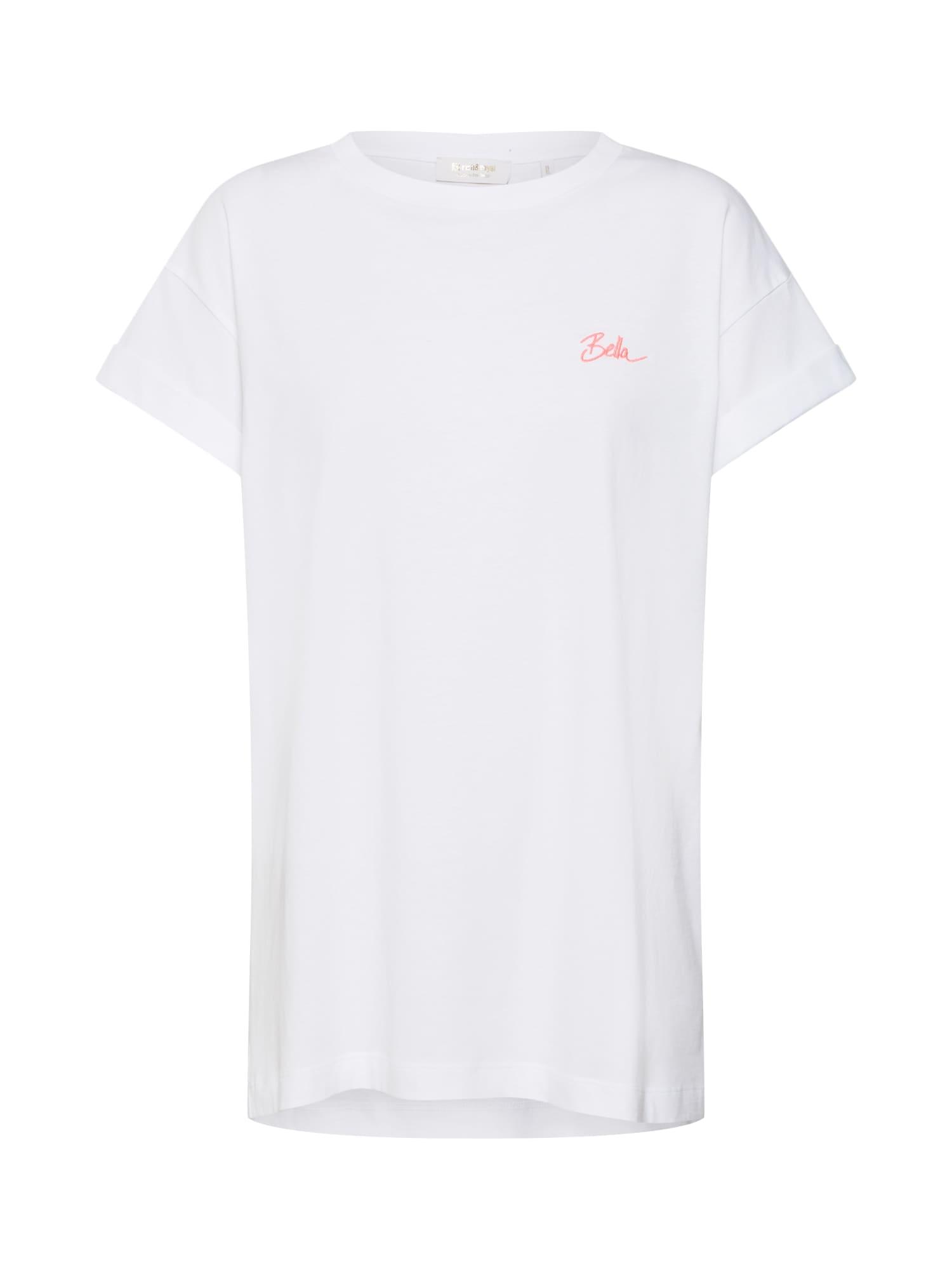 Tričko Boyfriend pink bílá Rich & Royal