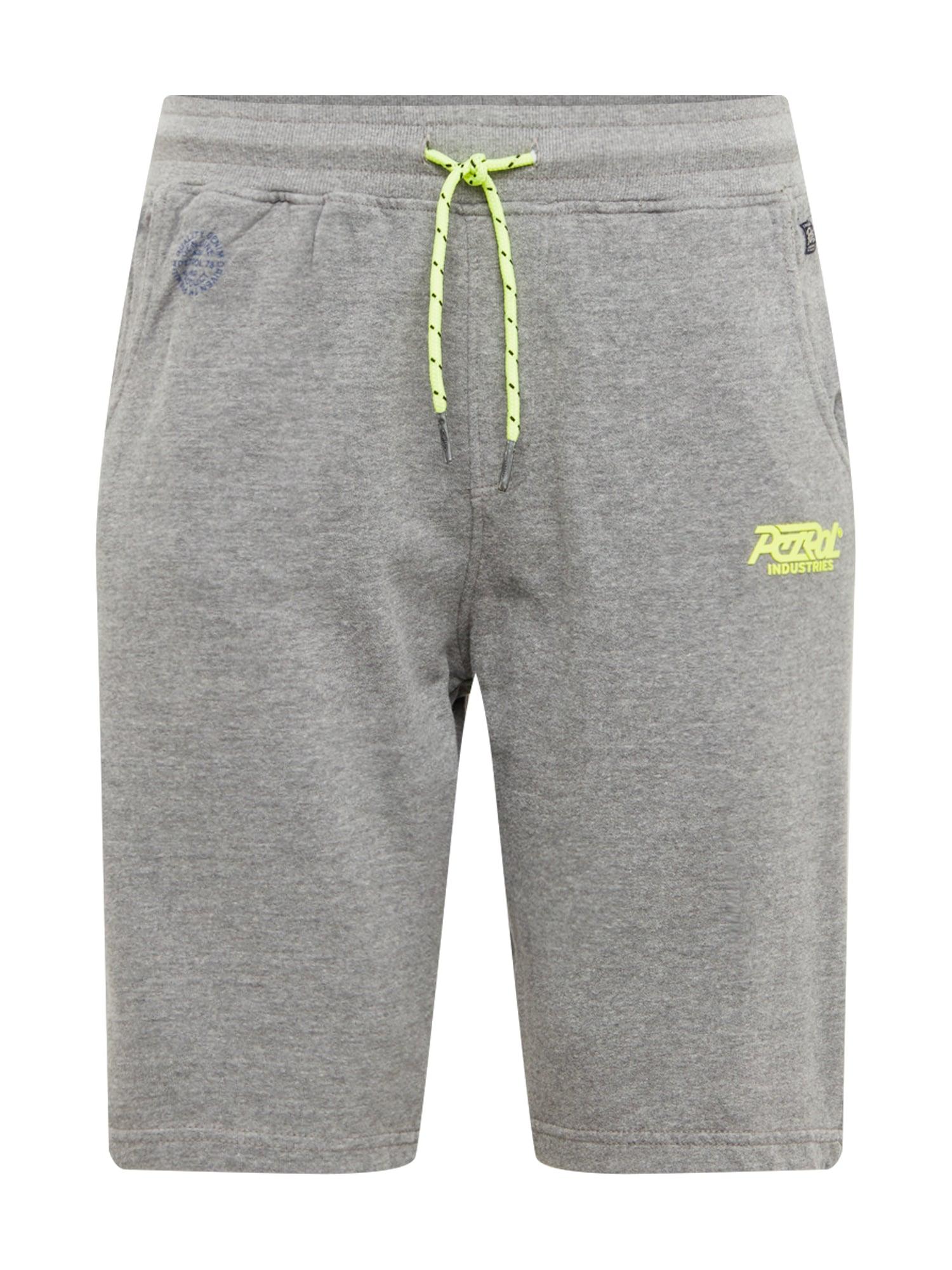 Kalhoty šedý melír svítivě zelená Petrol Industries