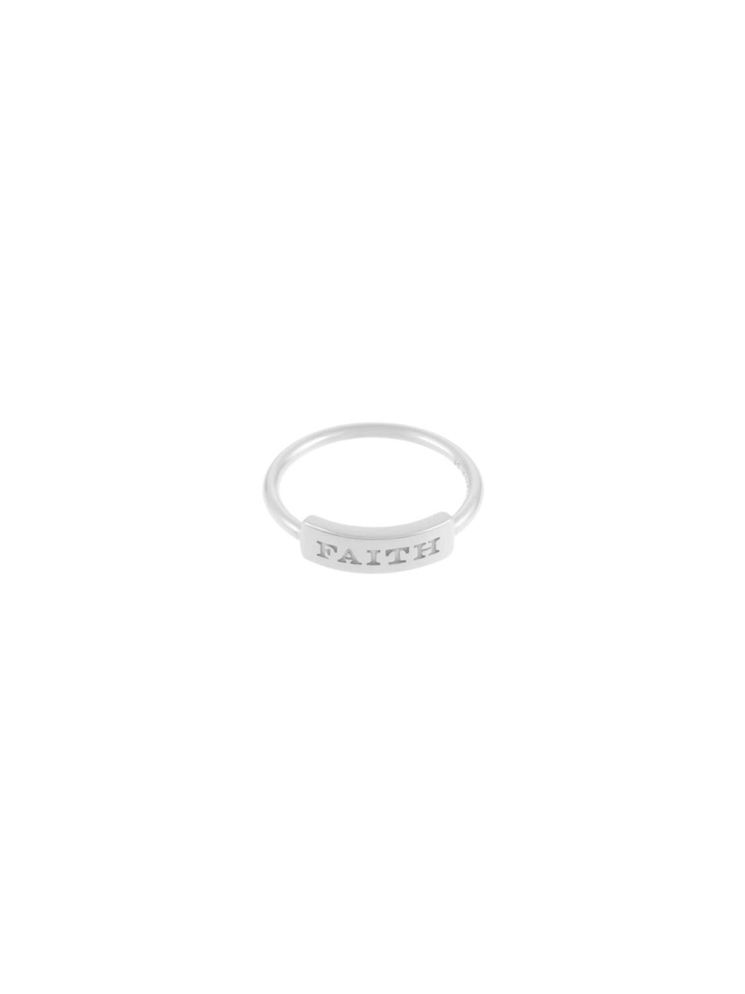 ID Fine, Dames Ring 'Faith', zilver
