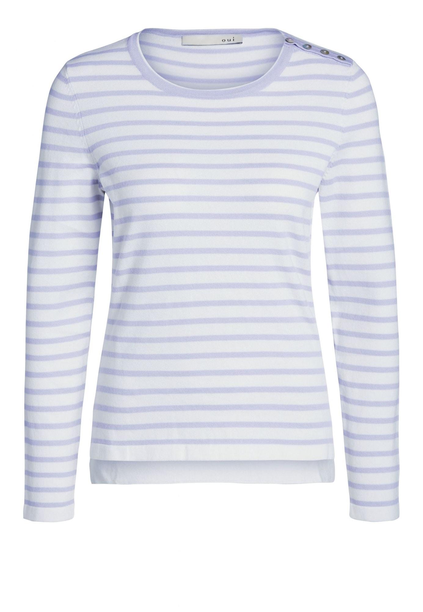 Pullover | Bekleidung > Pullover > Sonstige Pullover | Flieder - Weiß | Oui