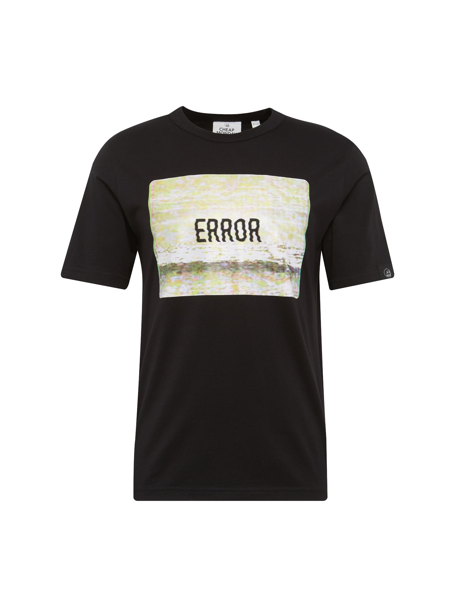 CHEAP MONDAY Heren Shirt Boxer tee Screen error zwart