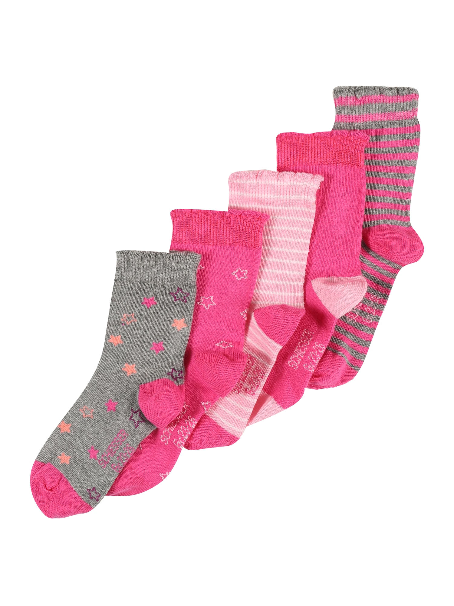 Ponožky mix barev pink SCHIESSER