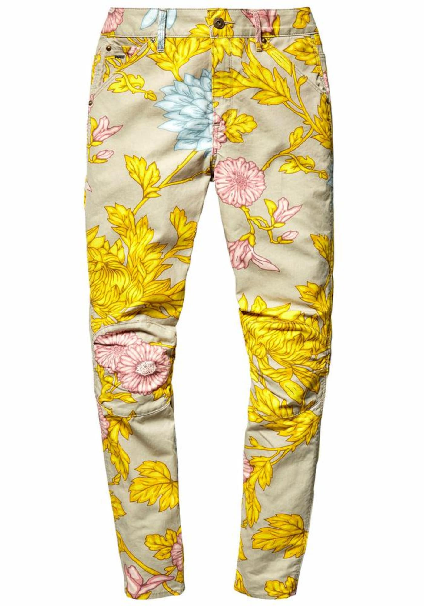 G-STAR RAW Dames Jeans Elwood 5622 3D mid boyfried COJ beige geel