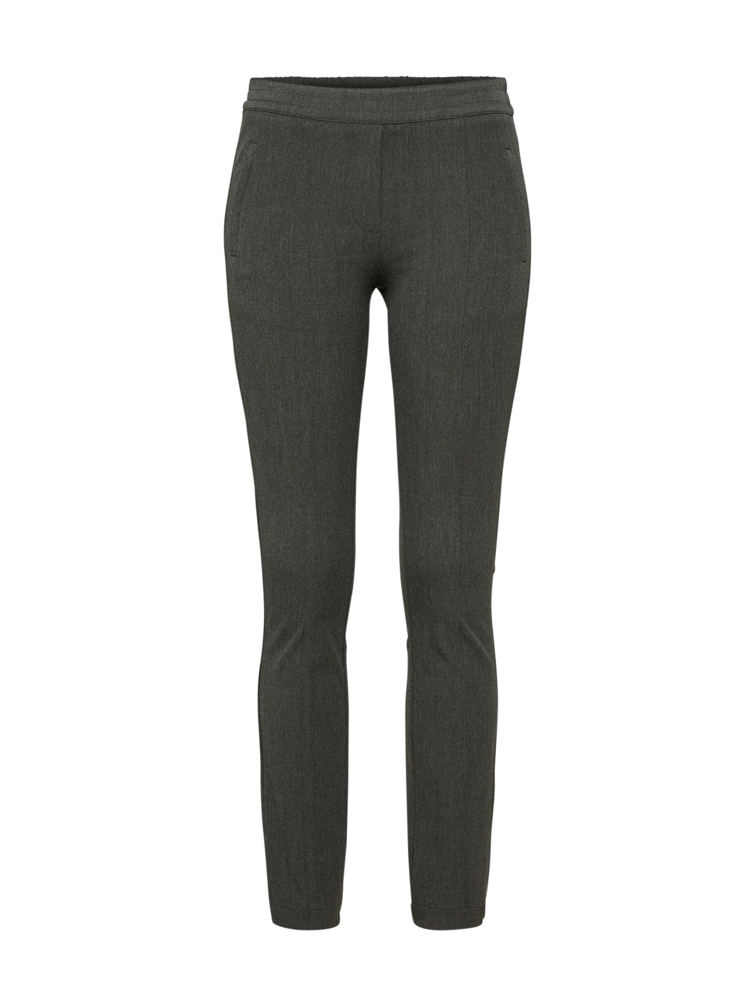 Kalhoty se sklady v pase tmavě šedá Levete Room
