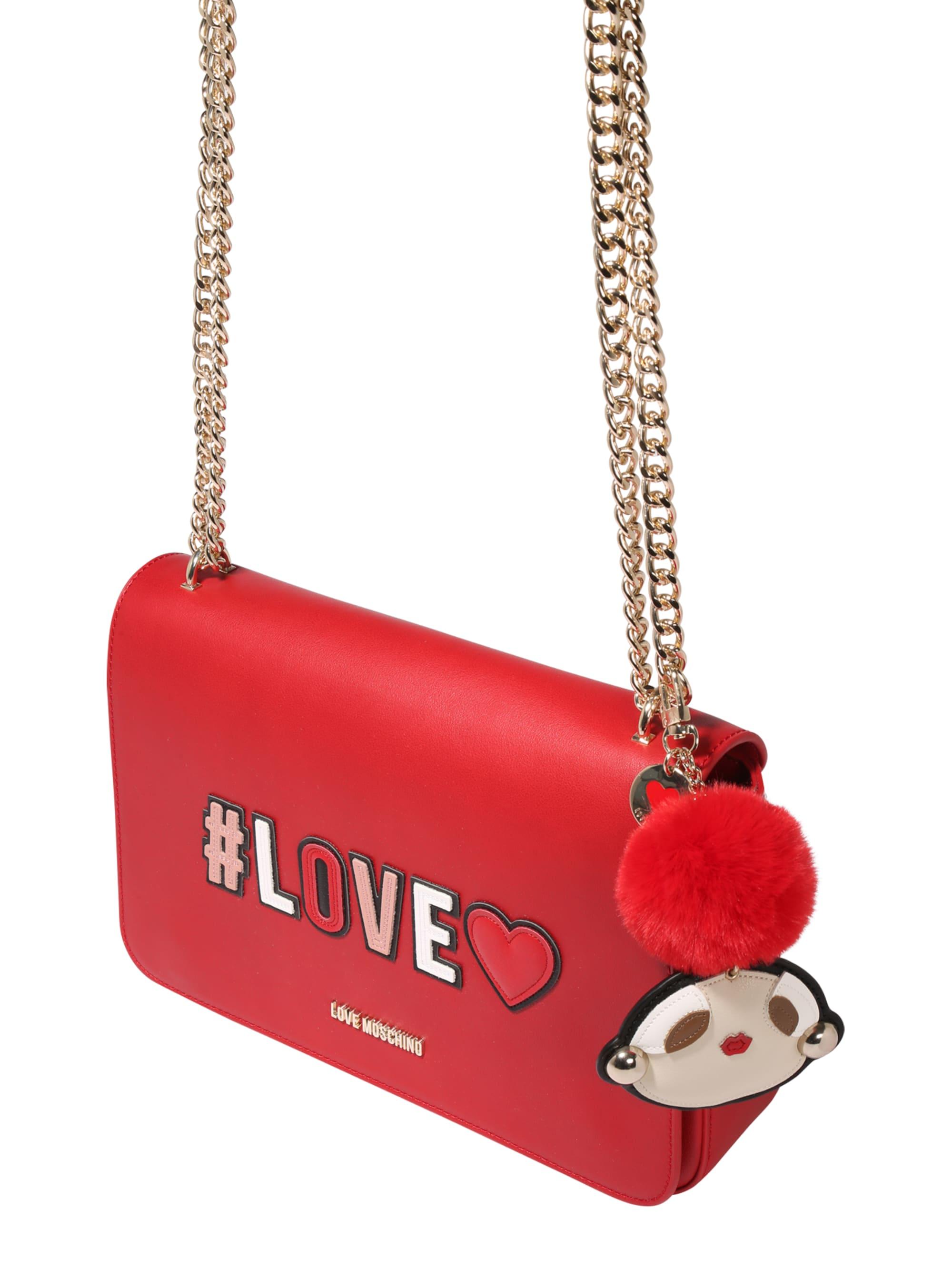 Love Moschino Torba na ramię  czerwony