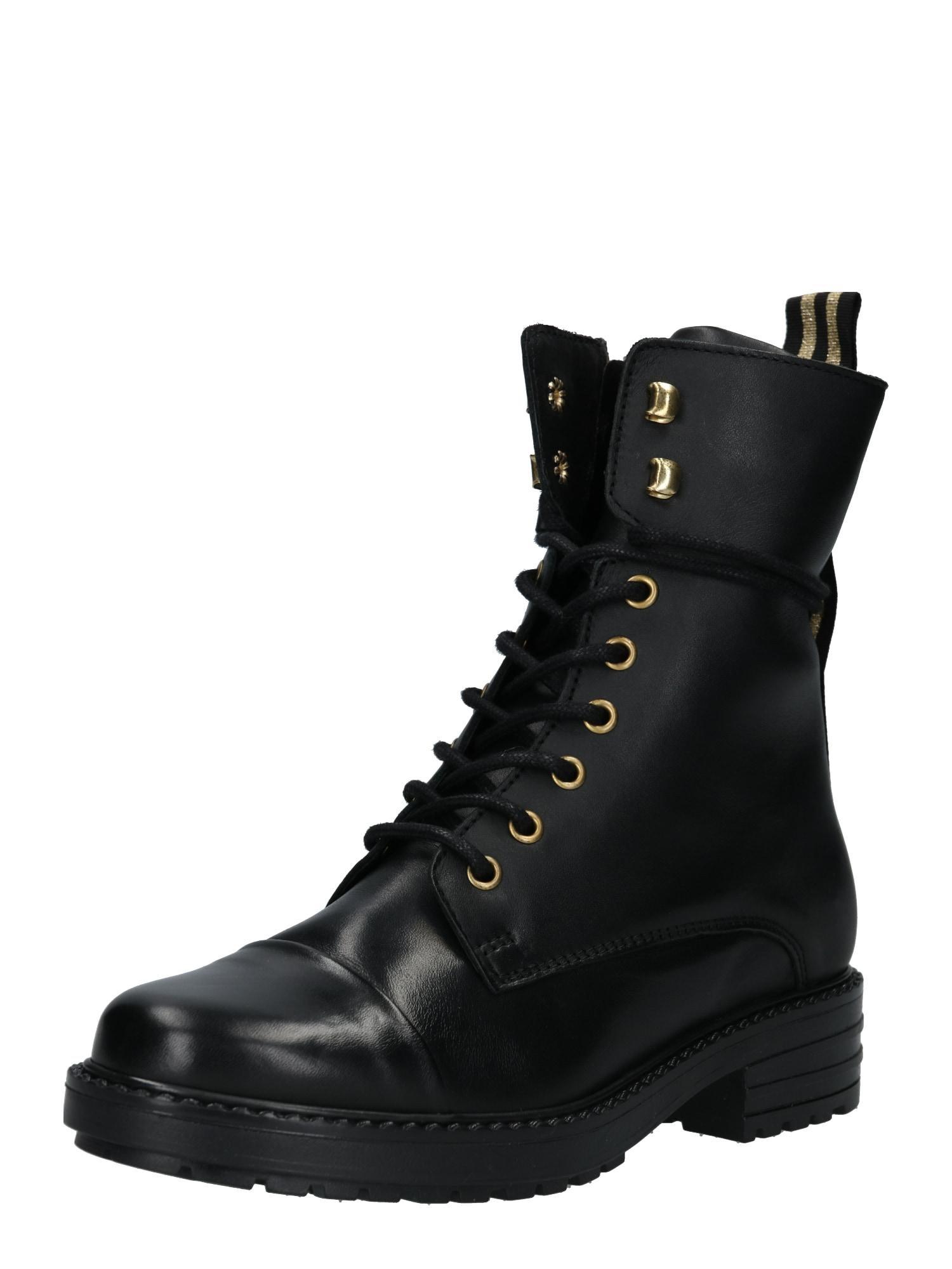 Šněrovací boty černá PS Poelman