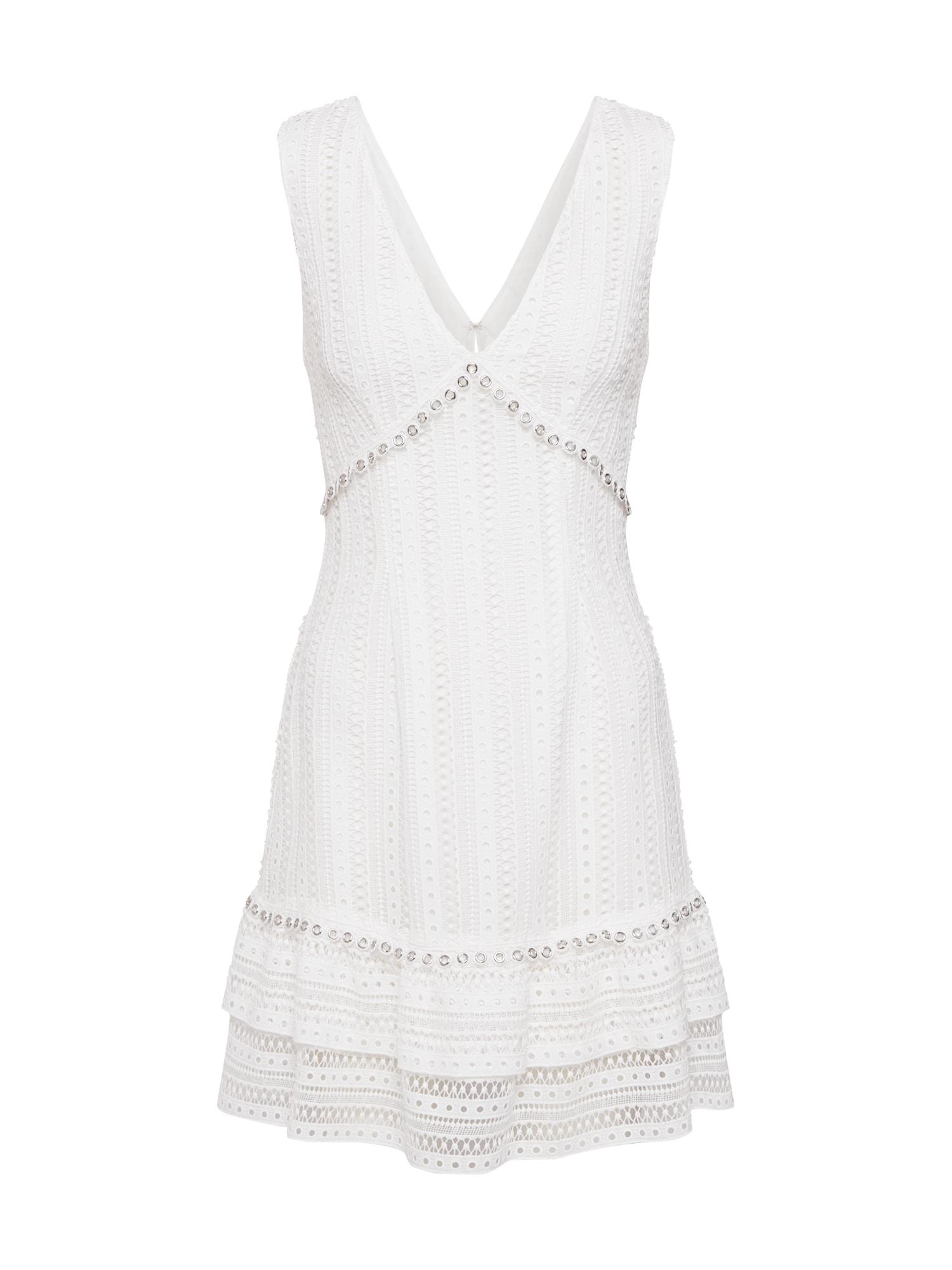 GUESS Letné šaty 'LEANDRA'  biela