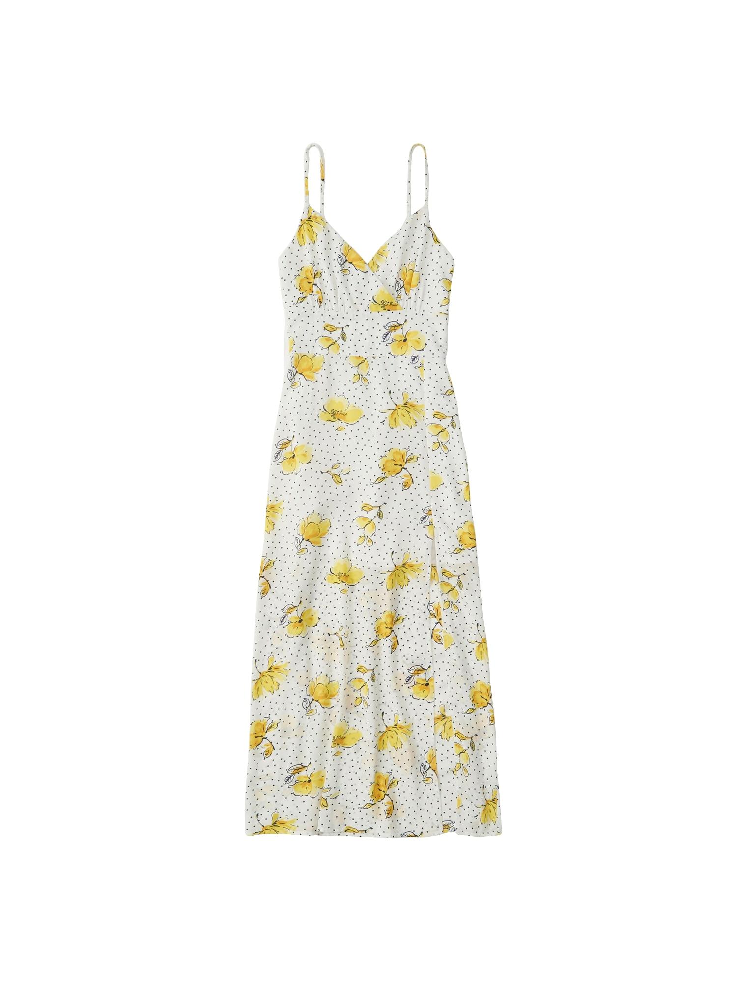 Letní šaty žlutá bílá Abercrombie & Fitch